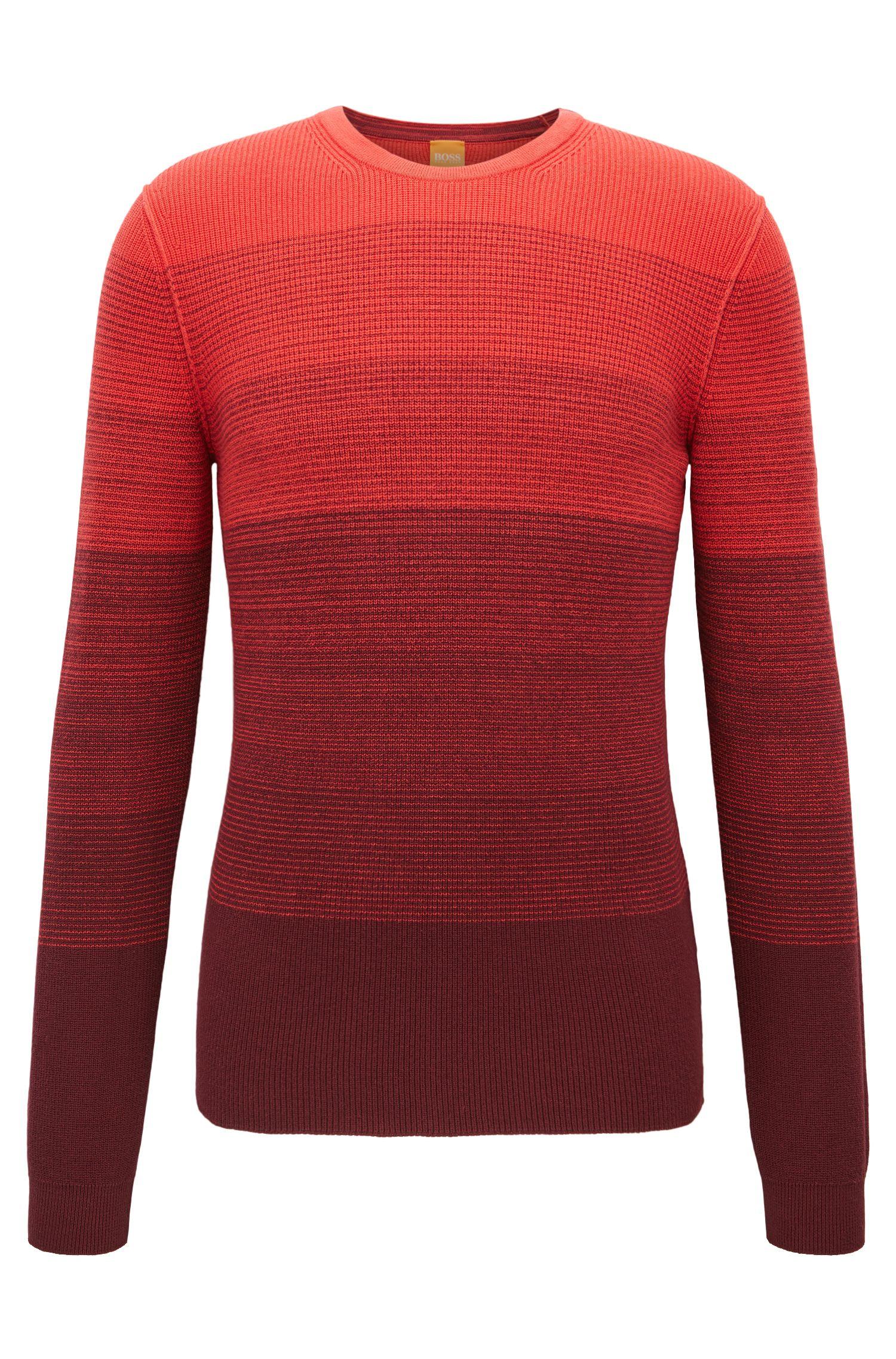 Katoenen trui met dégradé ribbeltextuur