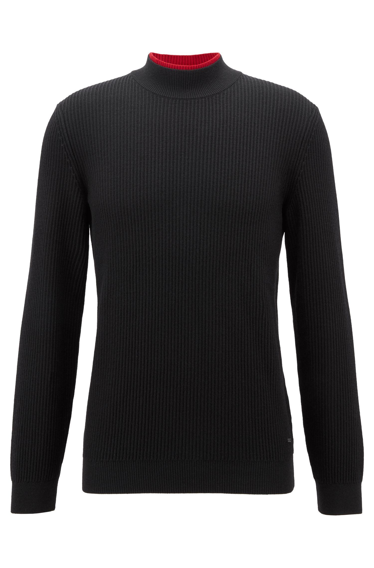Jersey con cuello alto en pura lana virgen