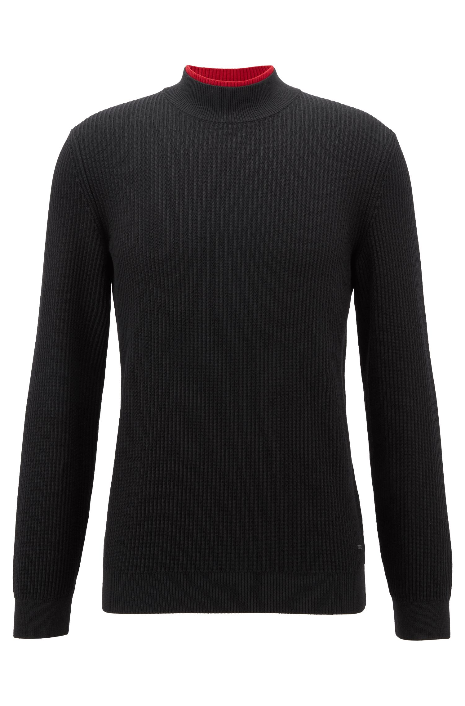 Turtle-neck sweater in pure virgin wool