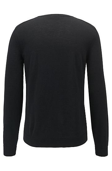 水手领羊毛毛衣,  001_黑色