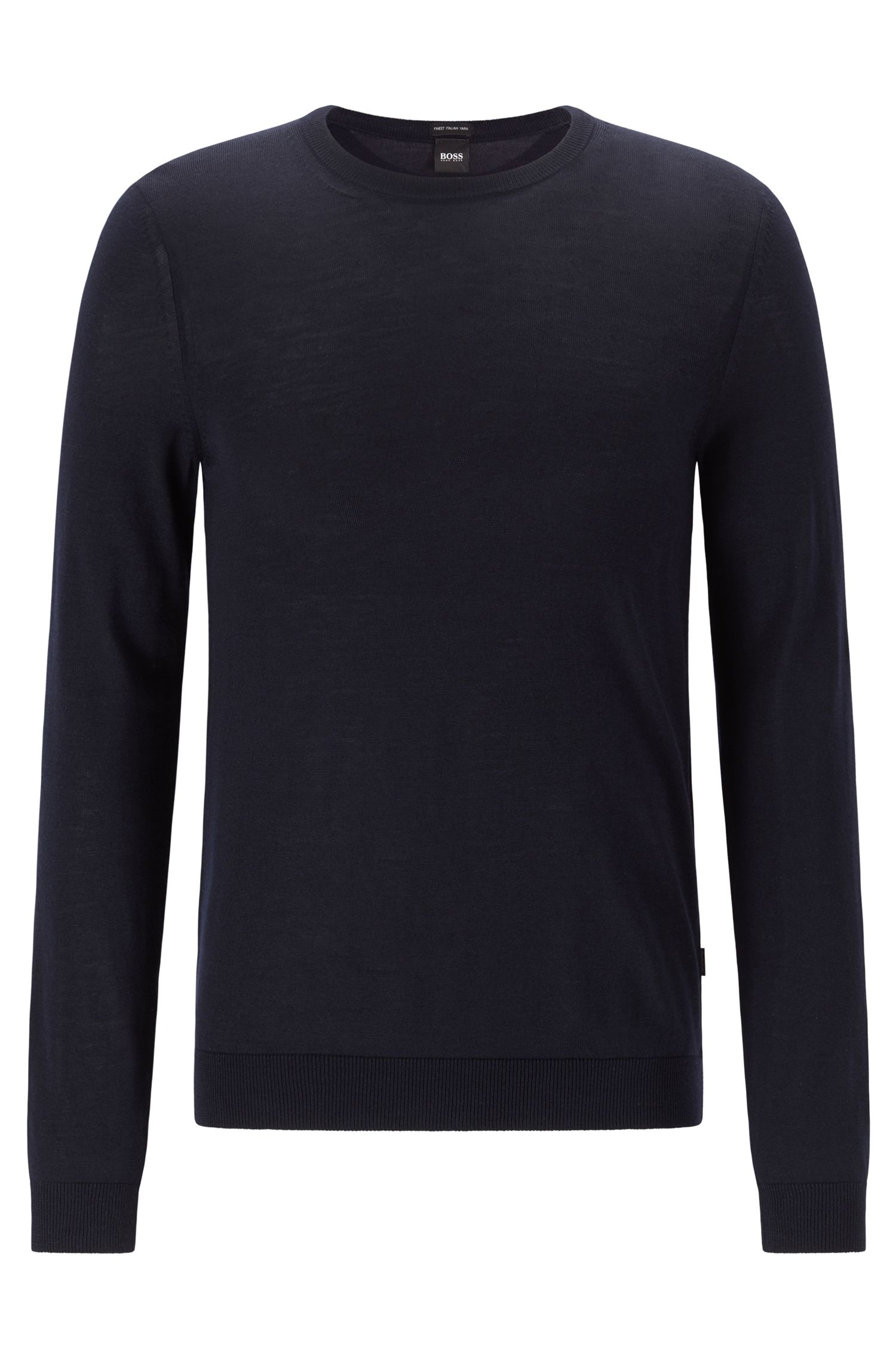 Hugo Boss - Jersey de cuello redondo en lana virgen - 1