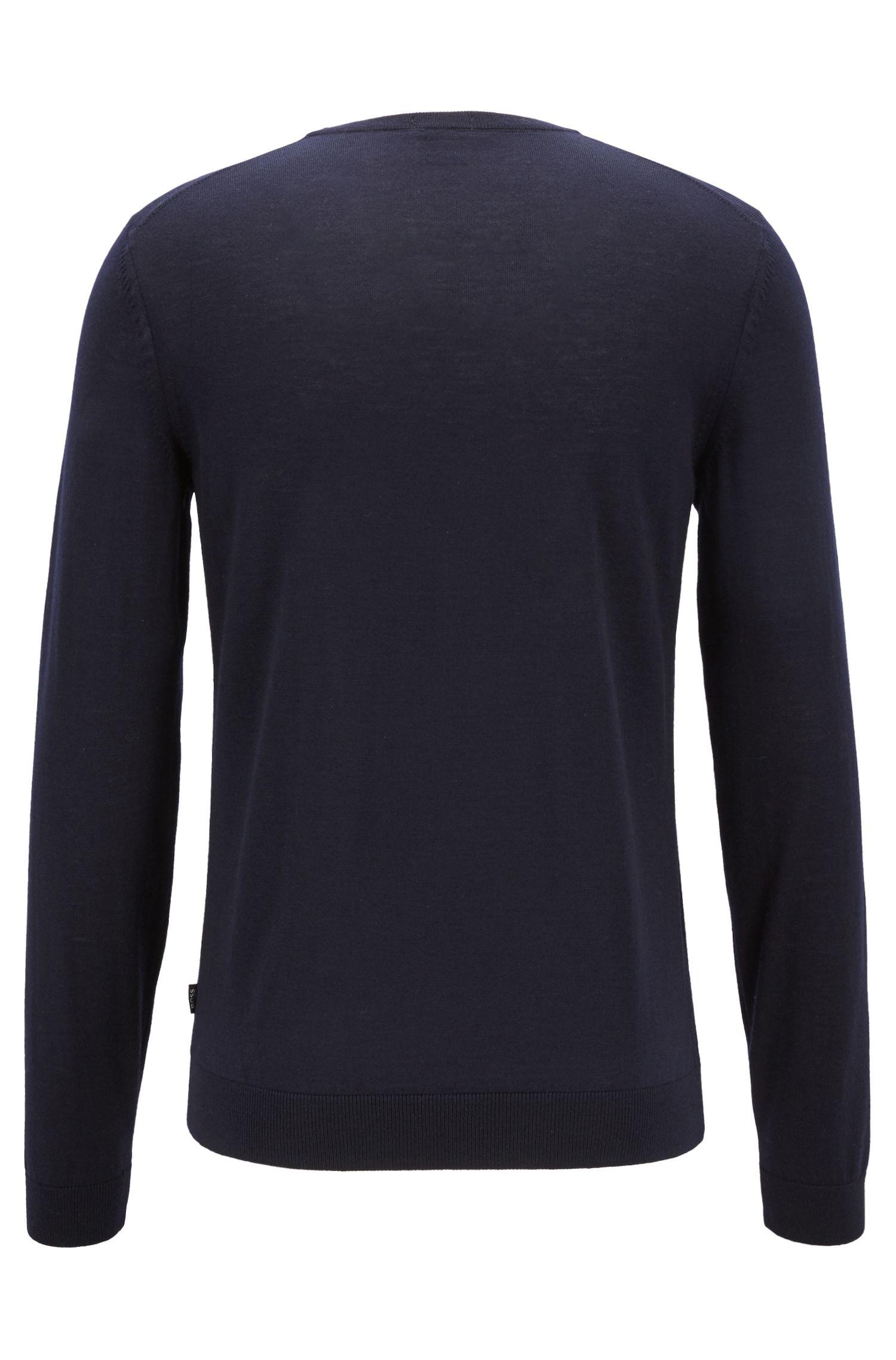 Hugo Boss - Jersey de cuello redondo en lana virgen - 5