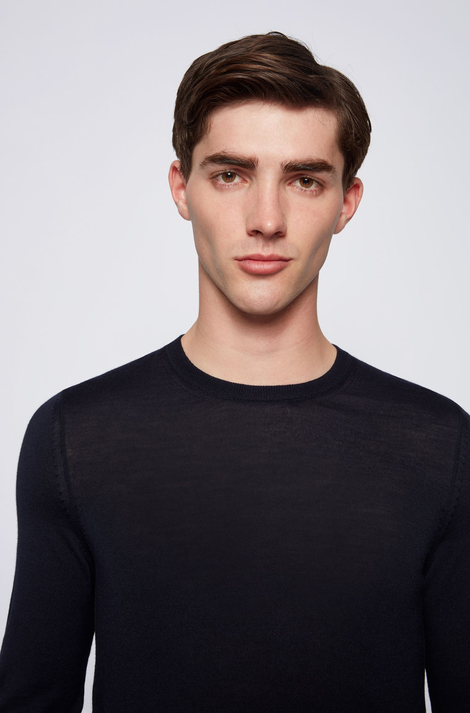 Hugo Boss - Jersey de cuello redondo en lana virgen - 3