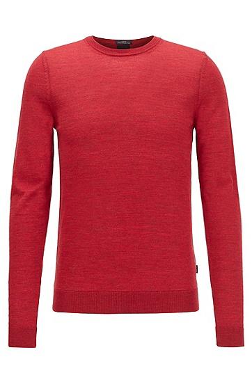 水手领羊毛毛衣,  615_中红色