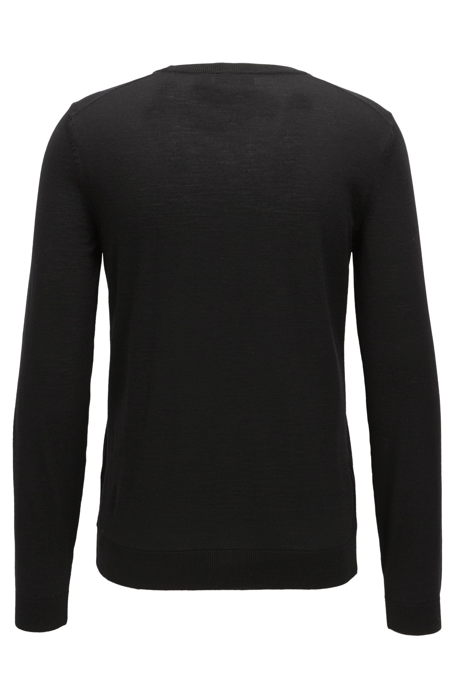 Pullover aus Schurwolle mit V-Ausschnitt
