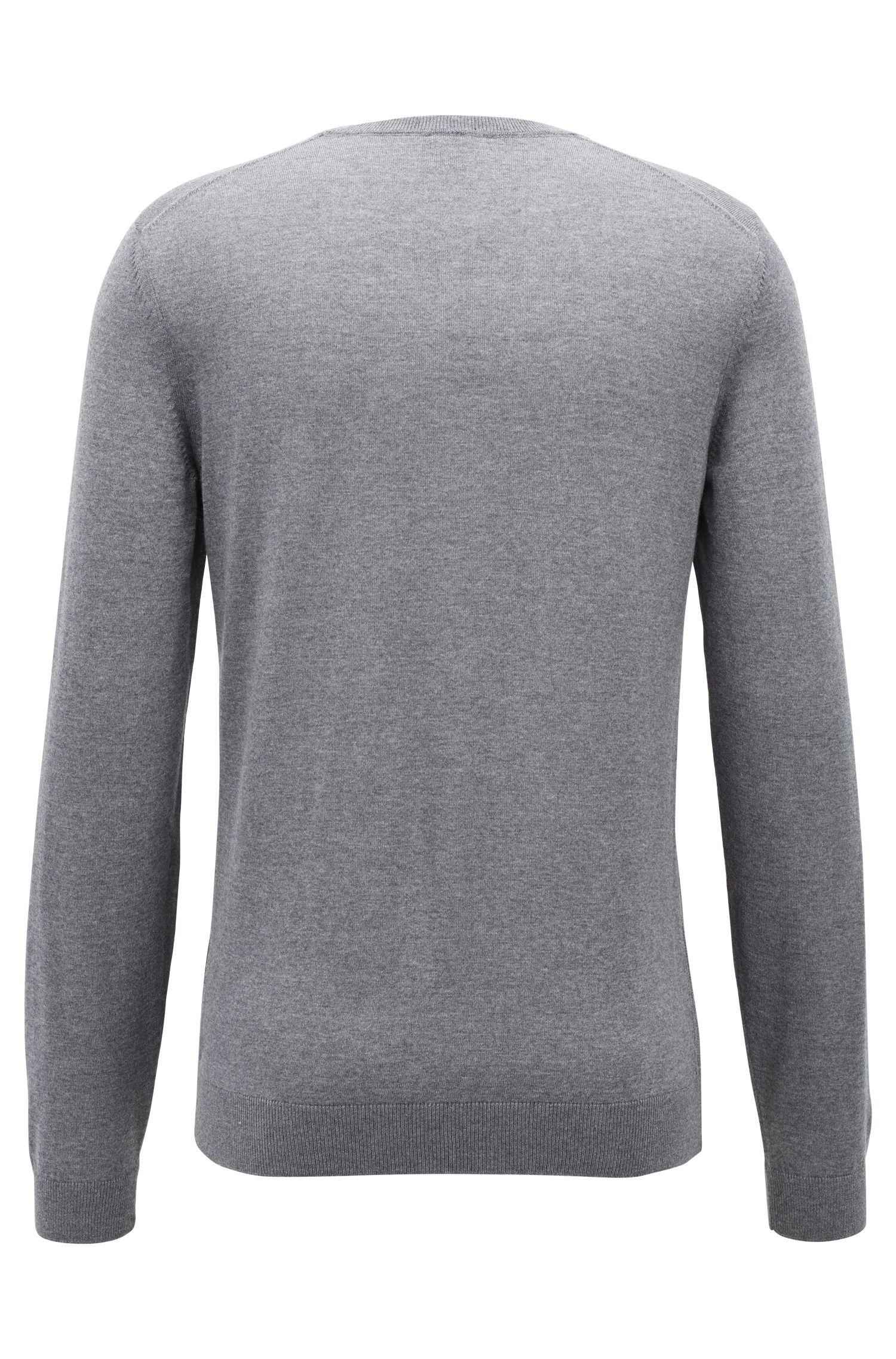 V-neck sweater in mulesing-free wool, Grey