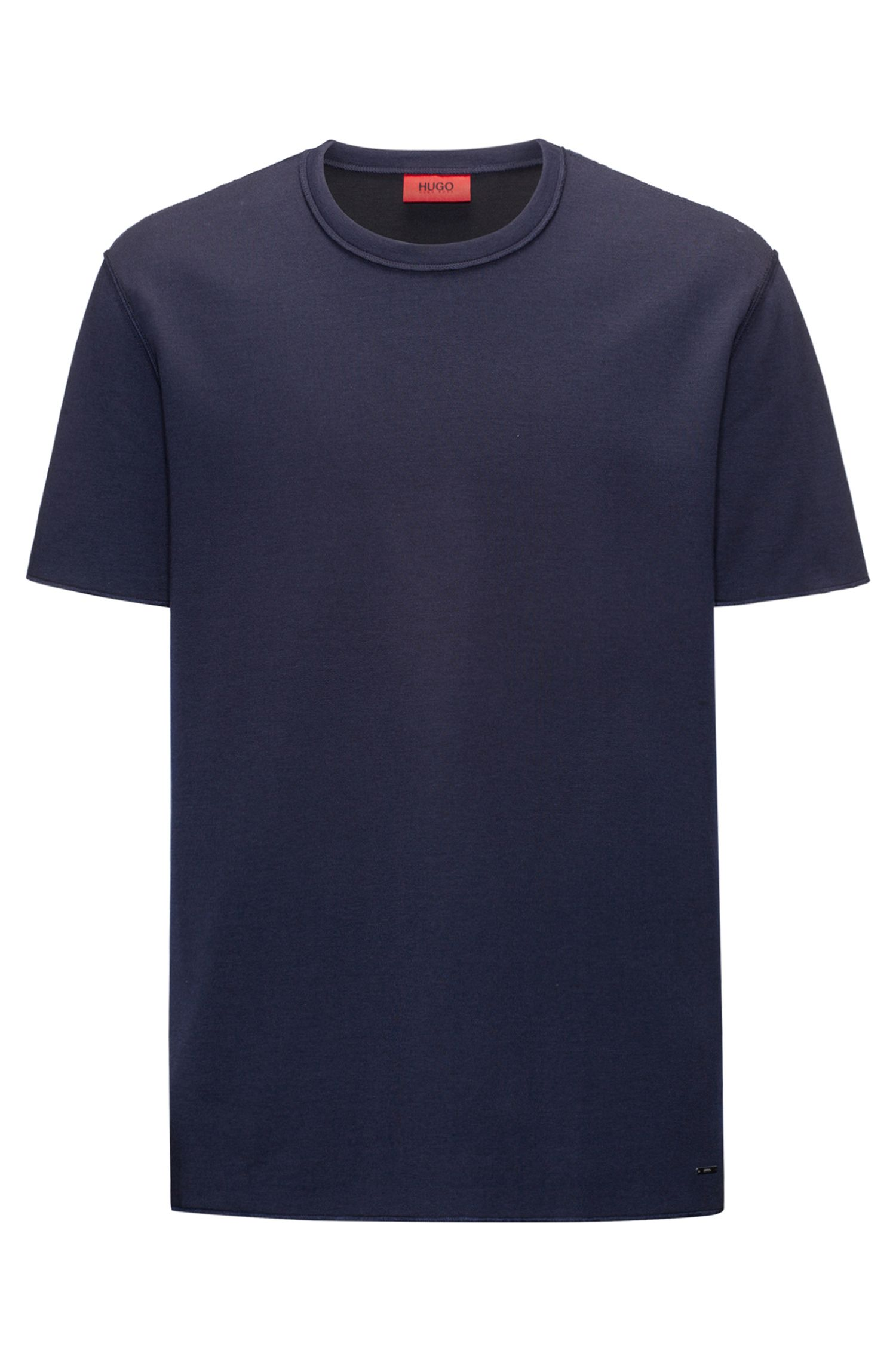 Relaxed-fit T-shirt in a double-face cotton blend