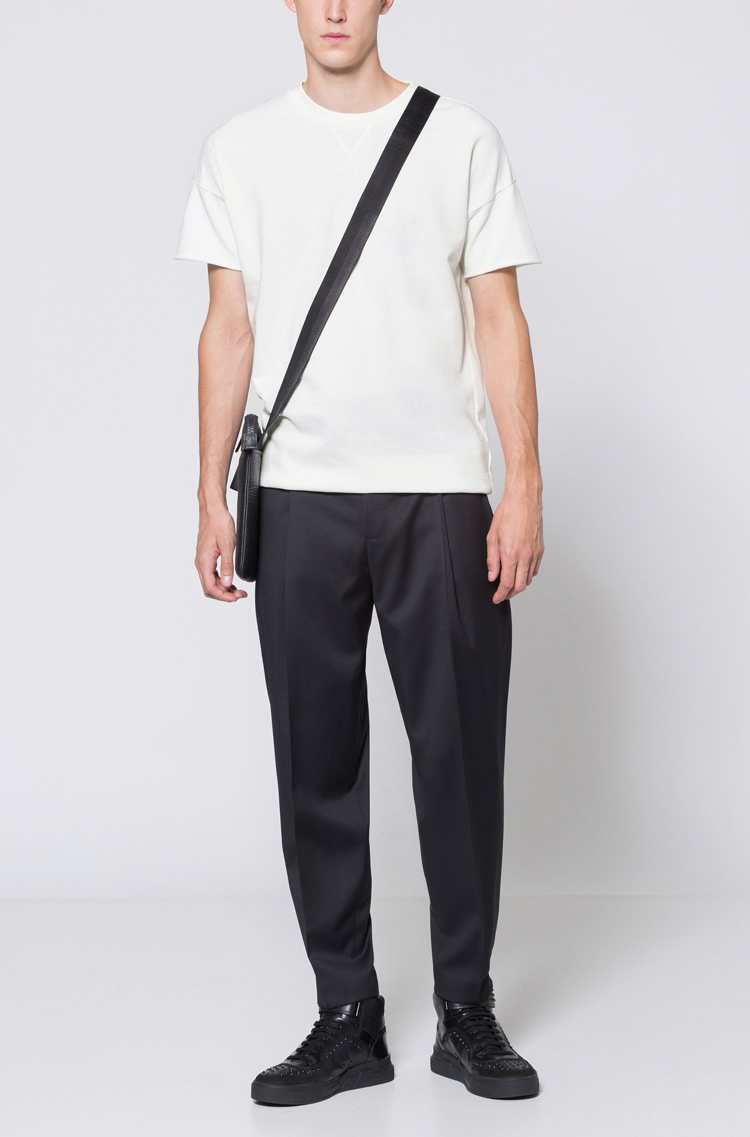 Oversized-fit T-shirt in garment-dyed French terry HUGO BOSS