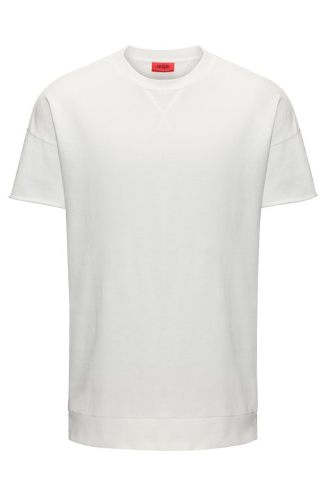 Clearance Enjoy Buy Cheap Countdown Package Oversized-fit T-shirt in garment-dyed French terry HUGO BOSS y9hdNA