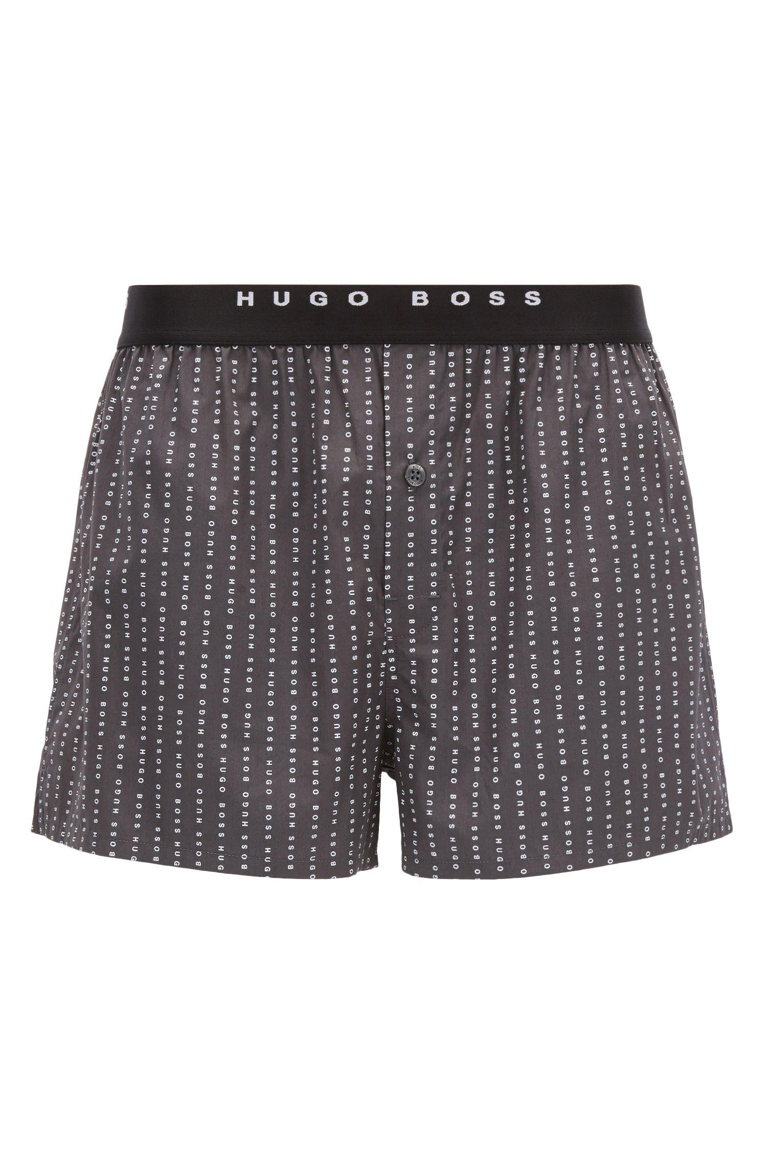 Shorts ligeros de pijama en popelín de algodón