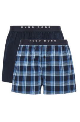 Leichte Pyjama-Shorts aus Baumwoll-Popeline, Gemustert