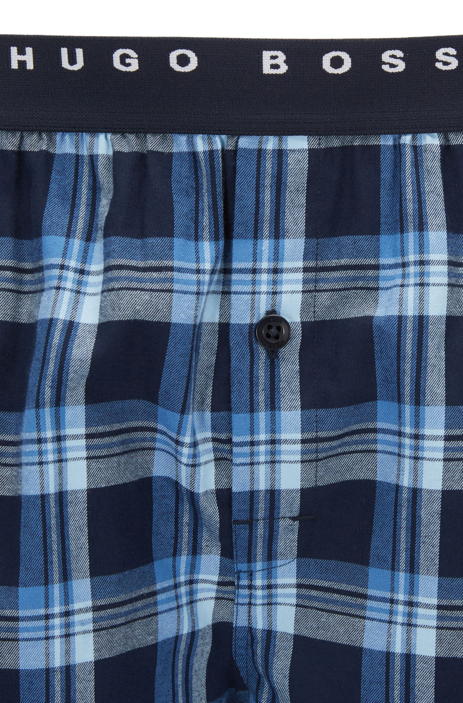 Lichte pyjamashort van katoenpopeline