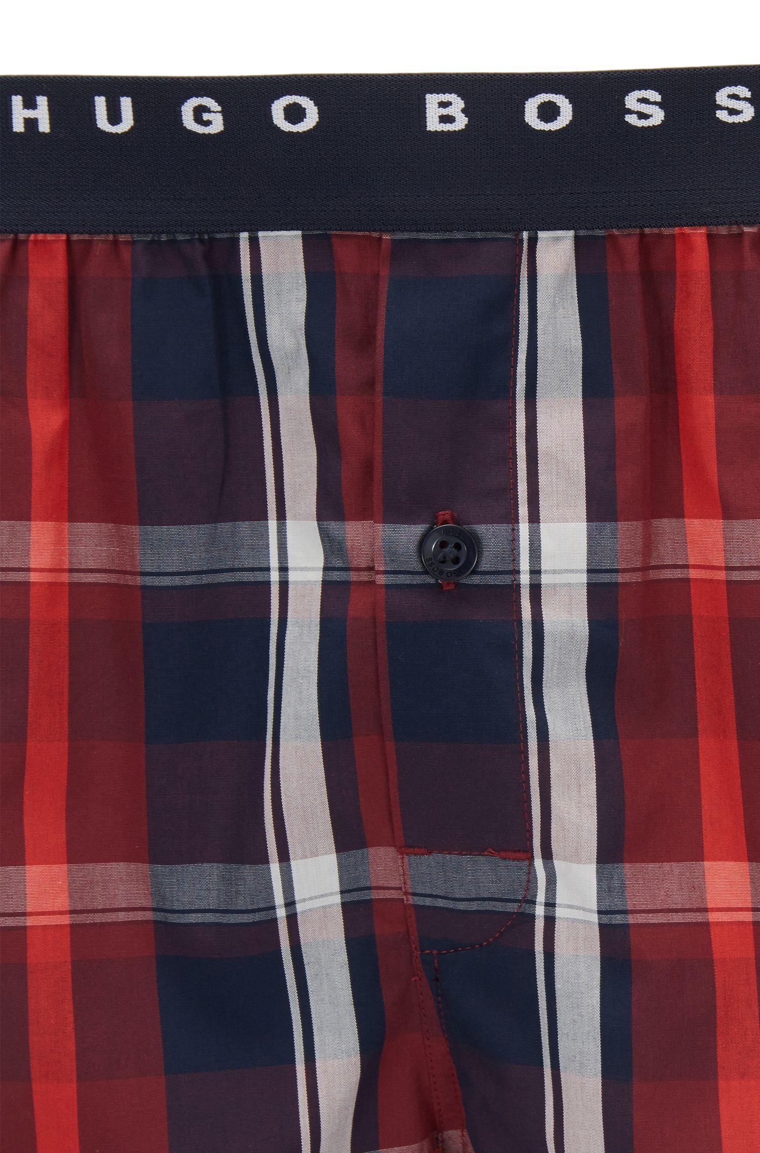 Leichte Pyjama-Shorts aus Baumwoll-Popeline