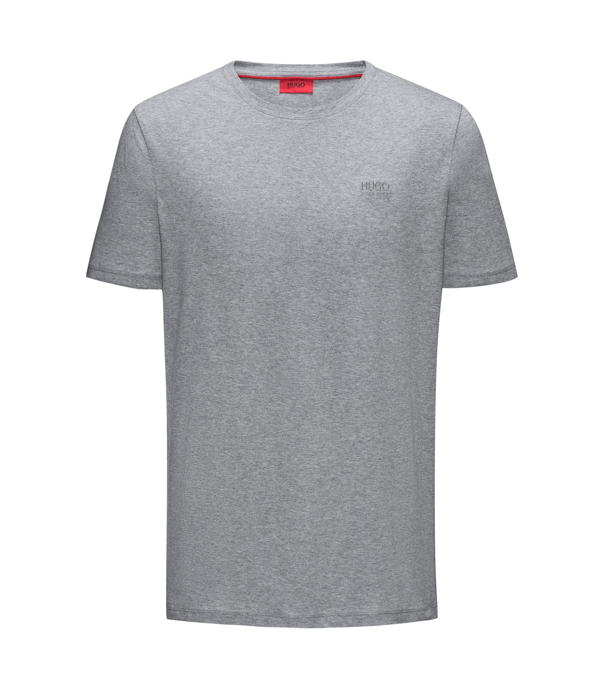 Regular-fit logo T-shirt in soft cotton, Grey