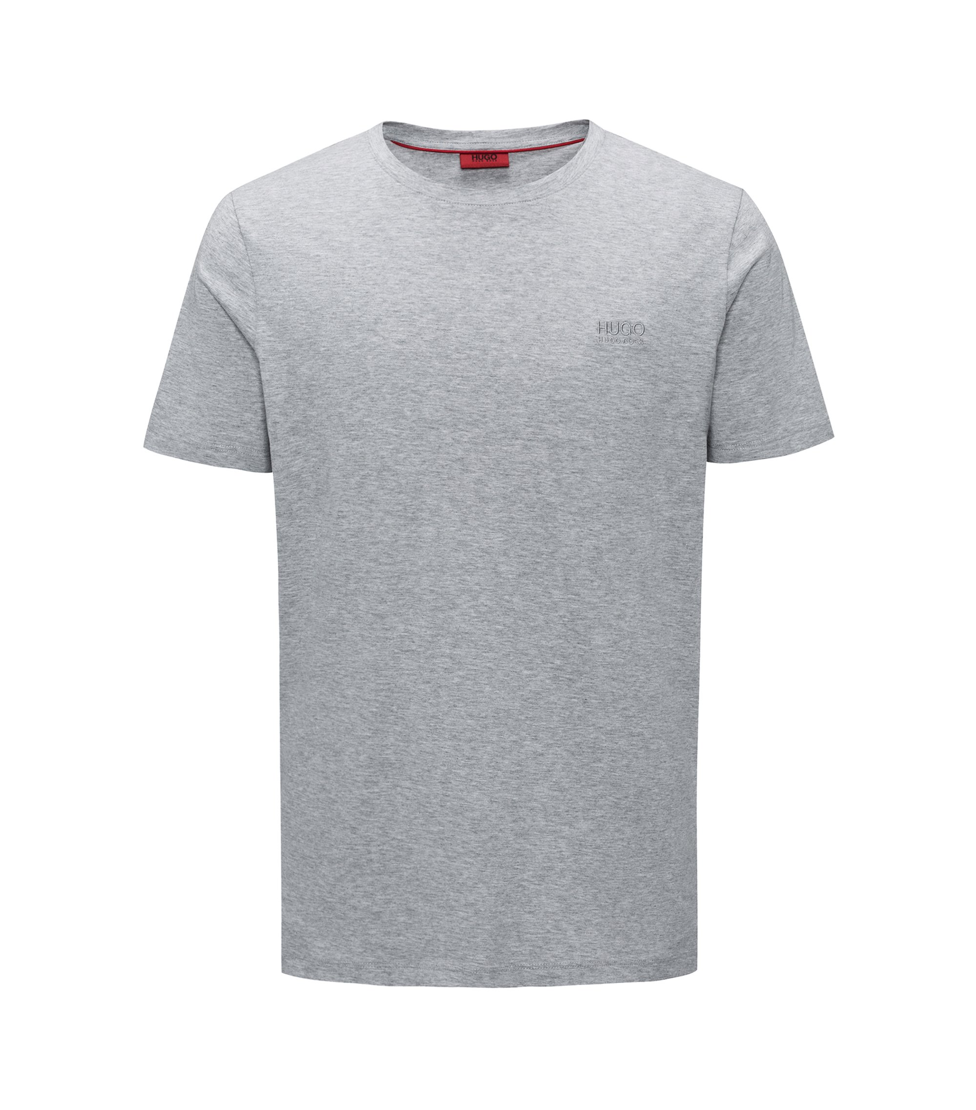 Regular-fit logo T-shirt in soft cotton, Dark Grey
