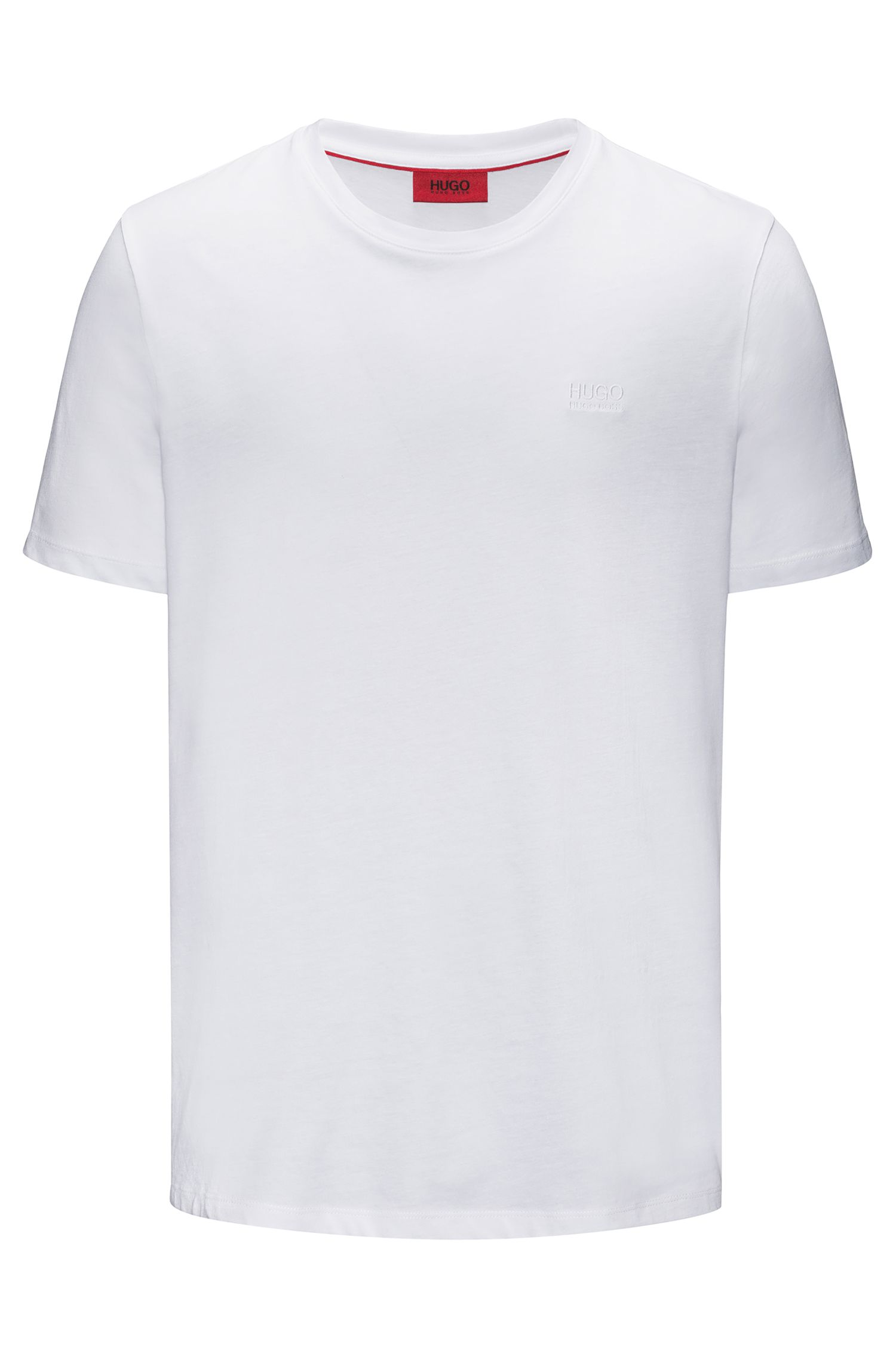 Regular-fit logo T-shirt in soft cotton, White