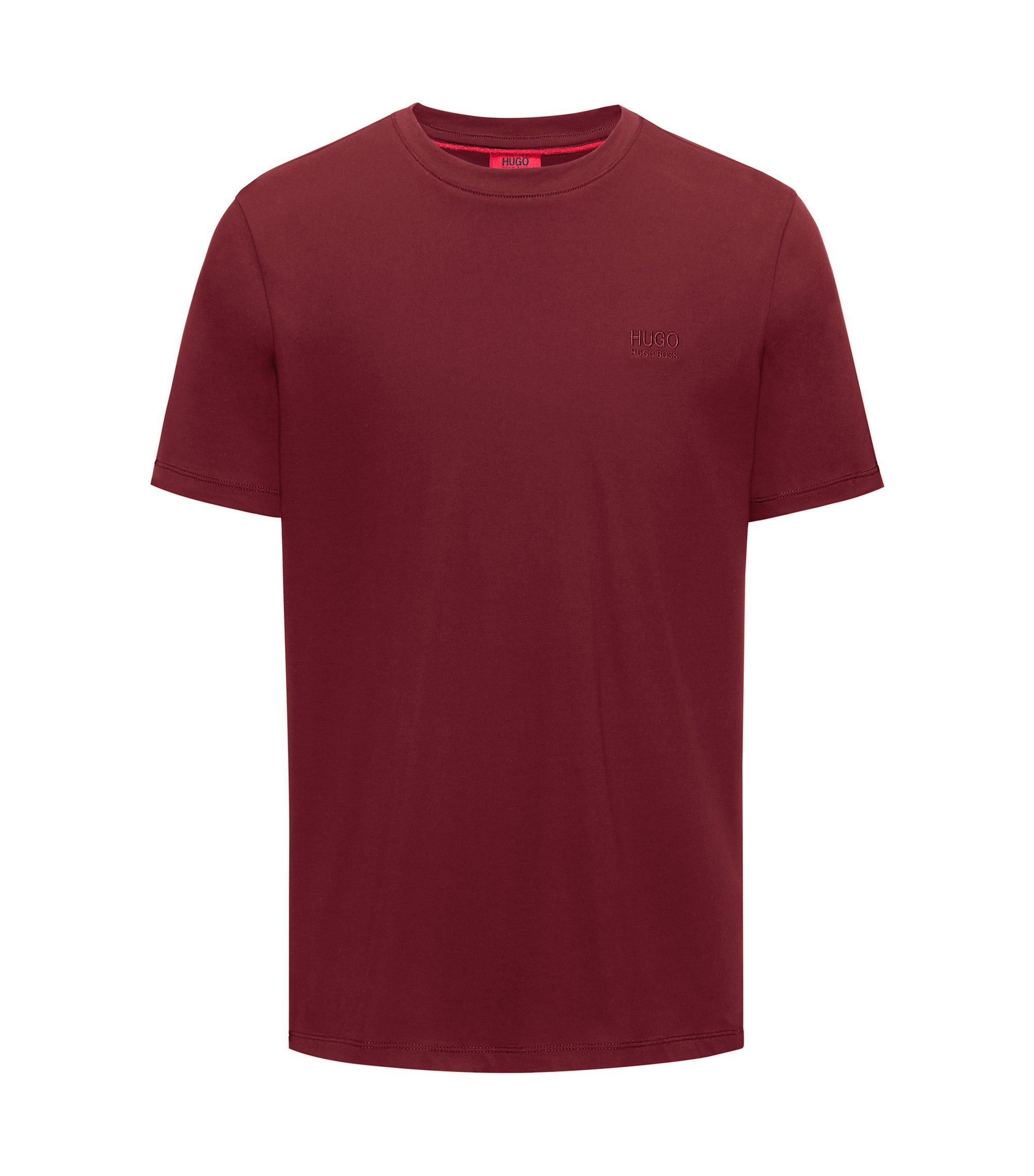 Regular-fit logo T-shirt in soft cotton, Dark Red