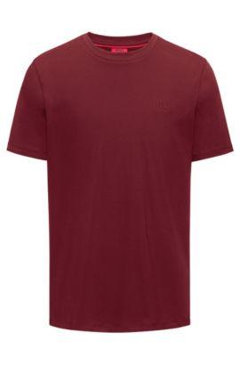 Regular-Fit T-Shirt aus weicher Baumwolle mit Logo, Dunkelrot