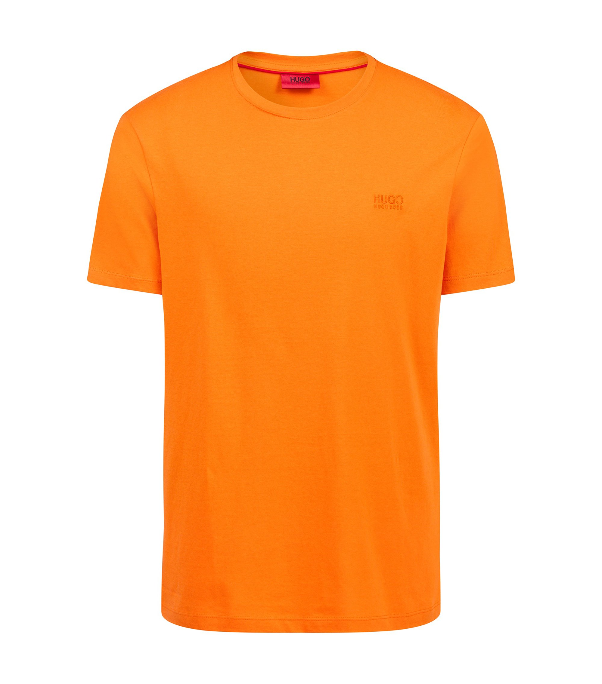 Regular-Fit T-Shirt aus weicher Baumwolle mit Logo, Orange