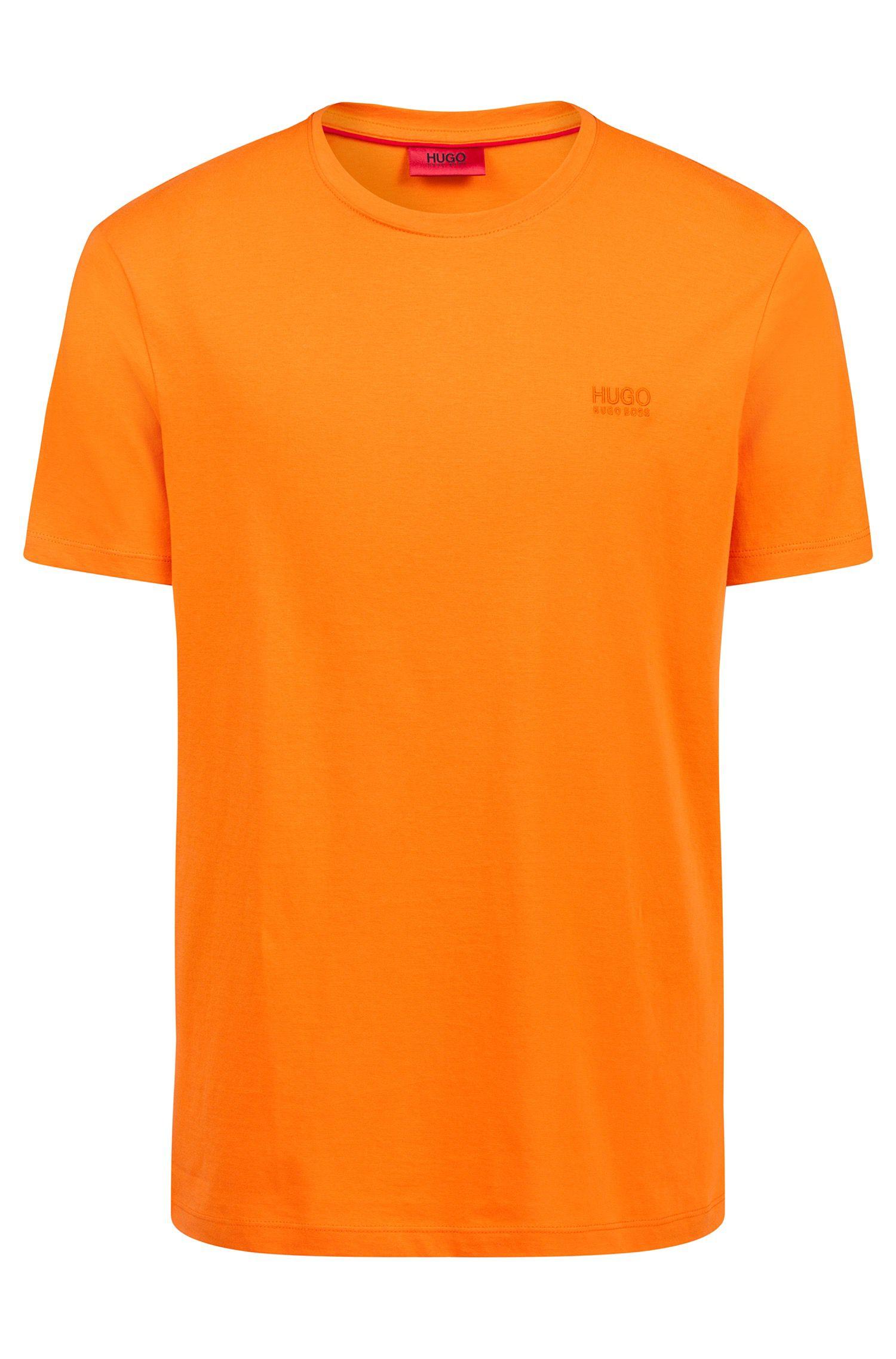 Regular-Fit T-Shirt aus weicher Baumwolle mit Logo, Orange