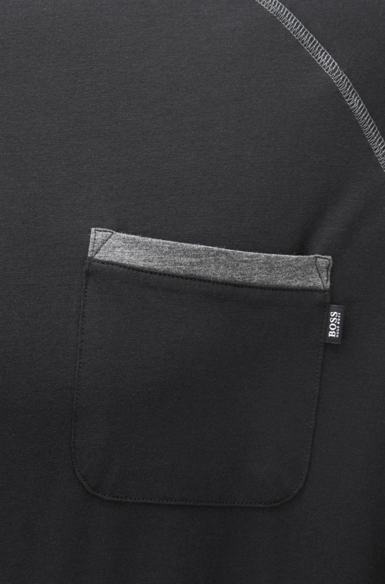 Camiseta de pijama regular fit en mezcla de algodón
