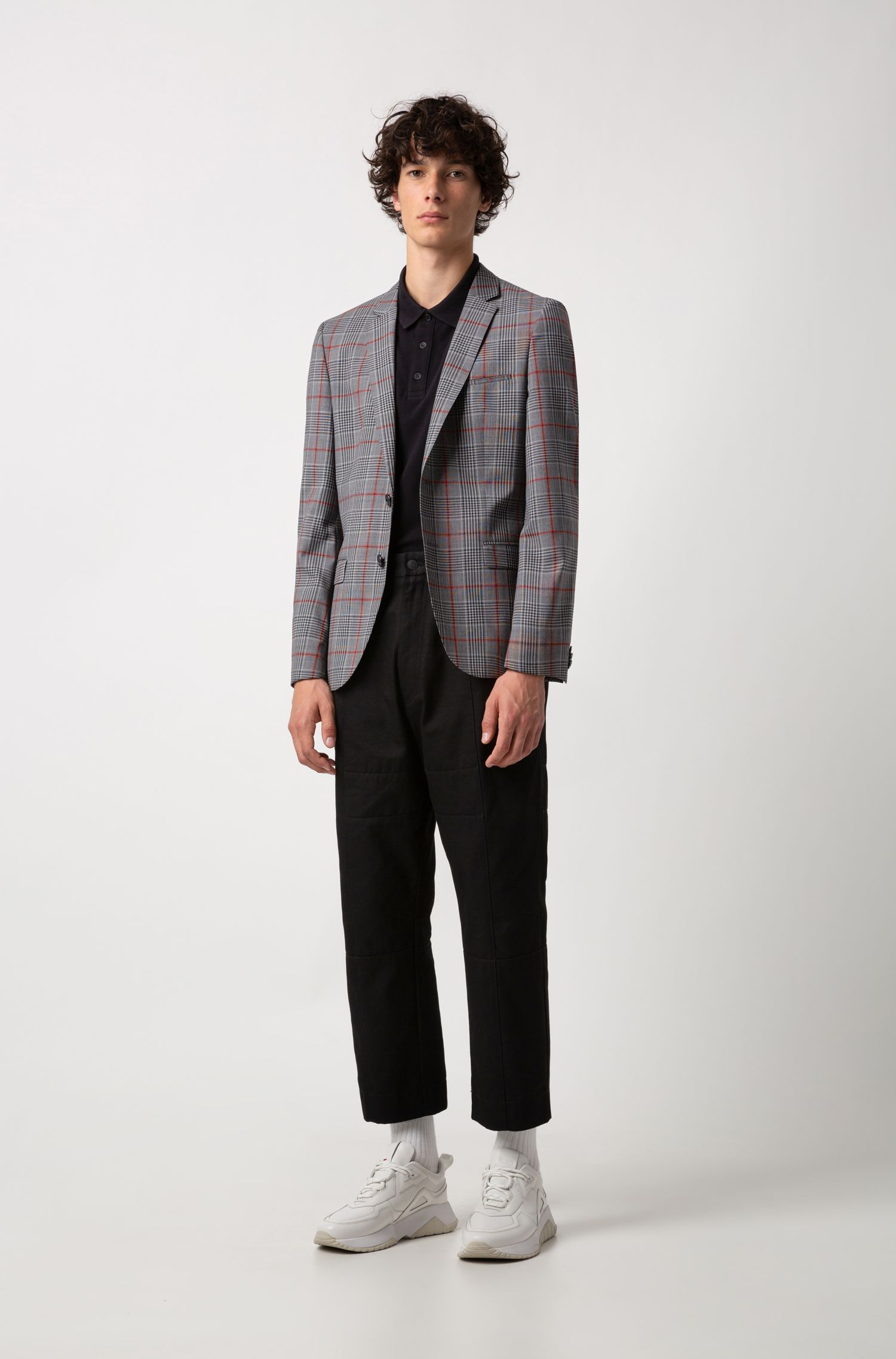 Polo Regular Fit en coton doux, Noir