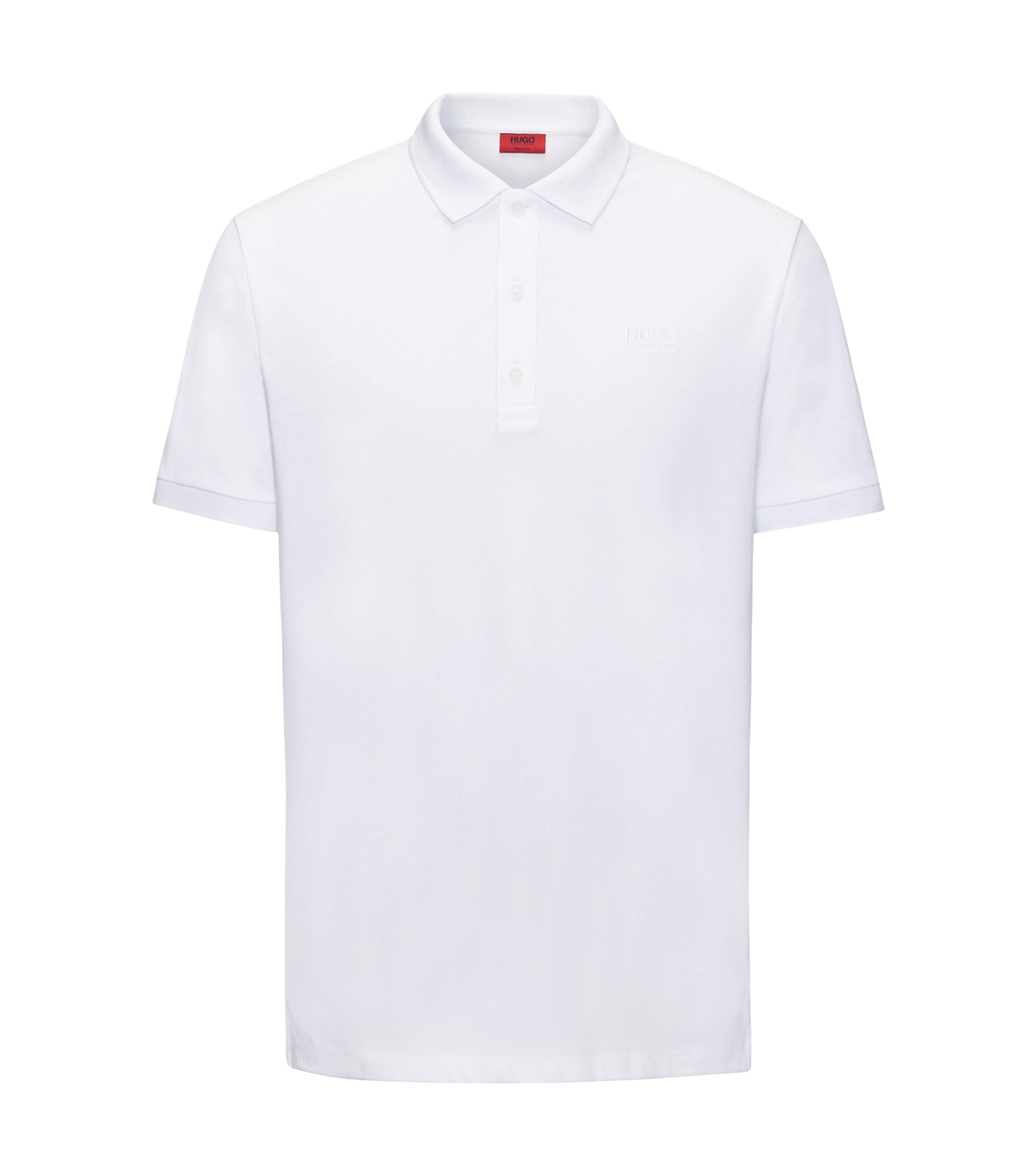 Regular-fit polo shirt in soft cotton, White
