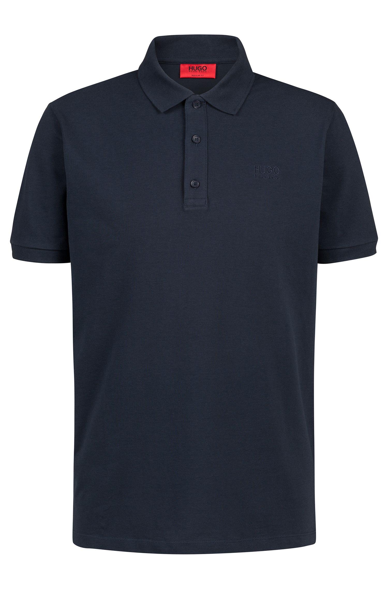 Regular-fit polo shirt in soft cotton, Dark Blue