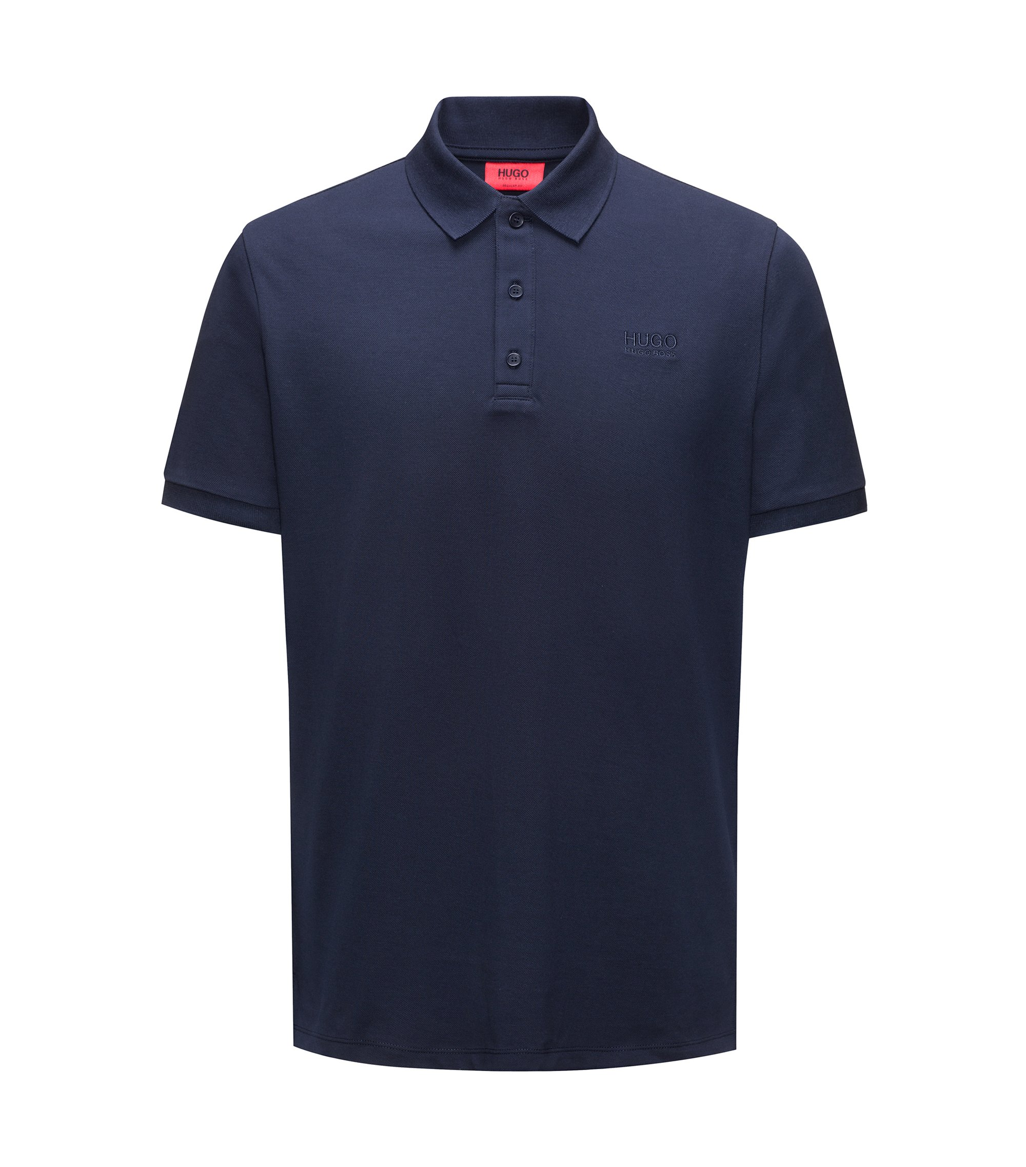 Regular-Fit Poloshirt aus softer Baumwolle, Dunkelblau