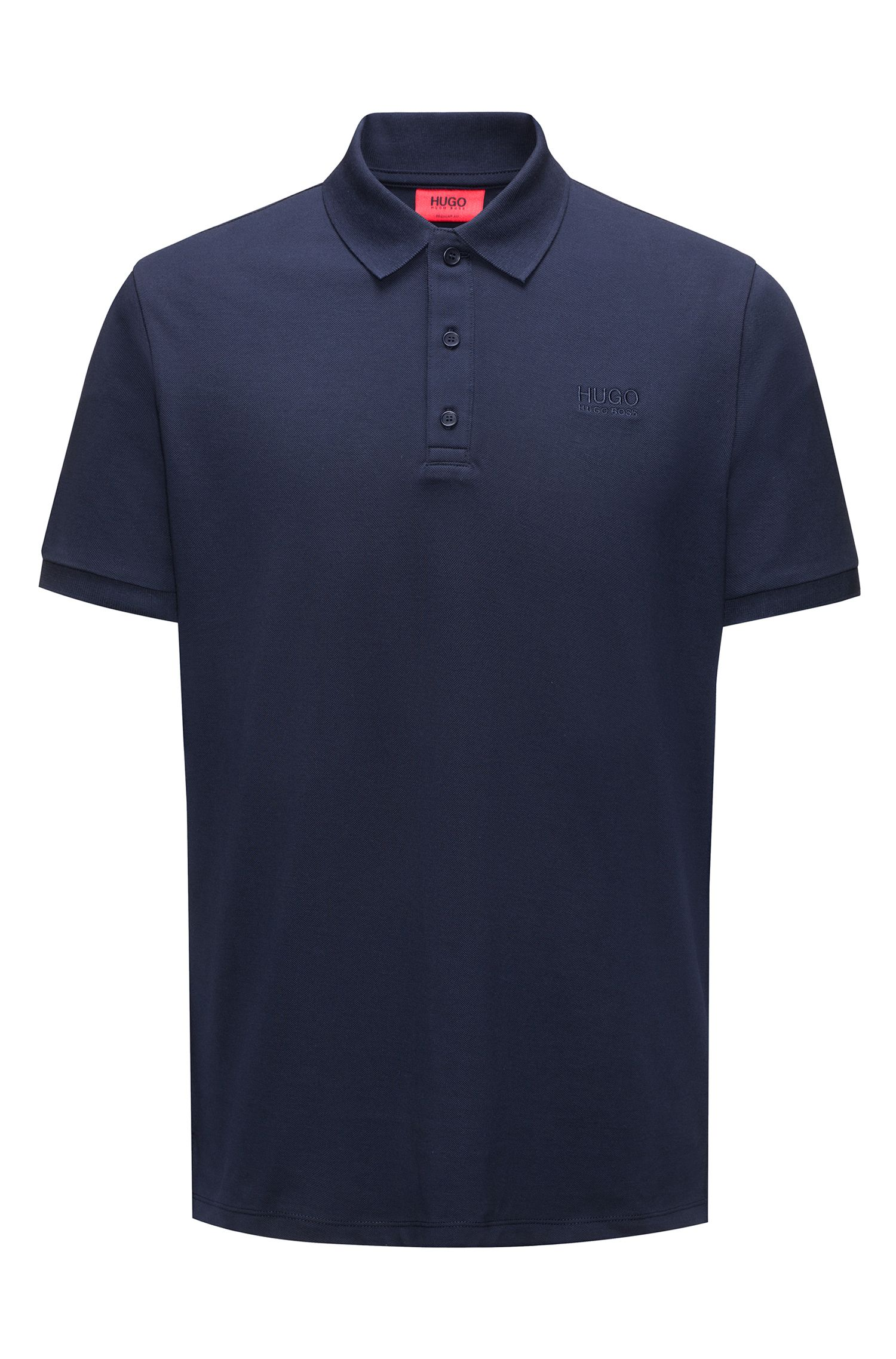 Regular-Fit Poloshirt aus softer Baumwolle