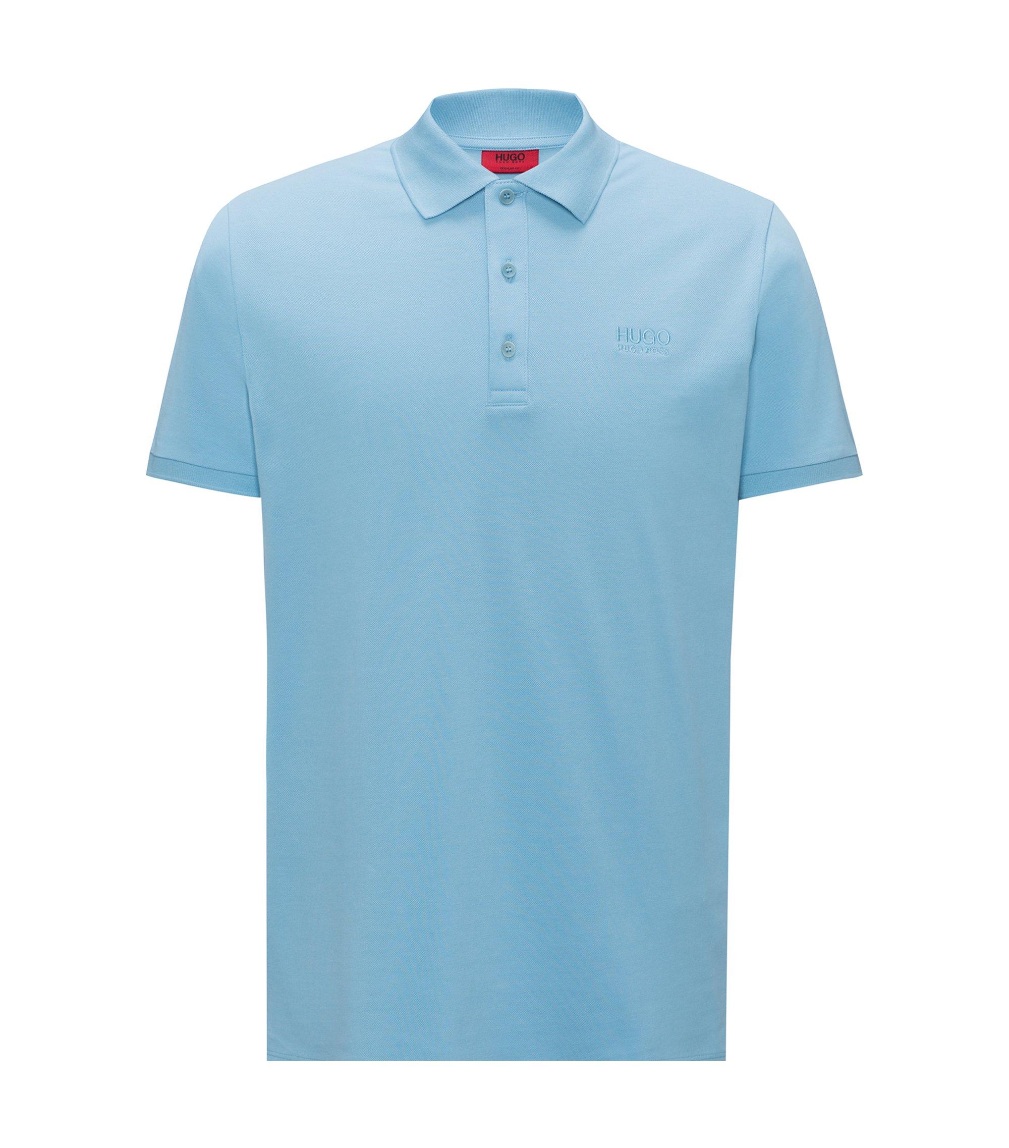 Polo Regular Fit en coton doux, Bleu vif