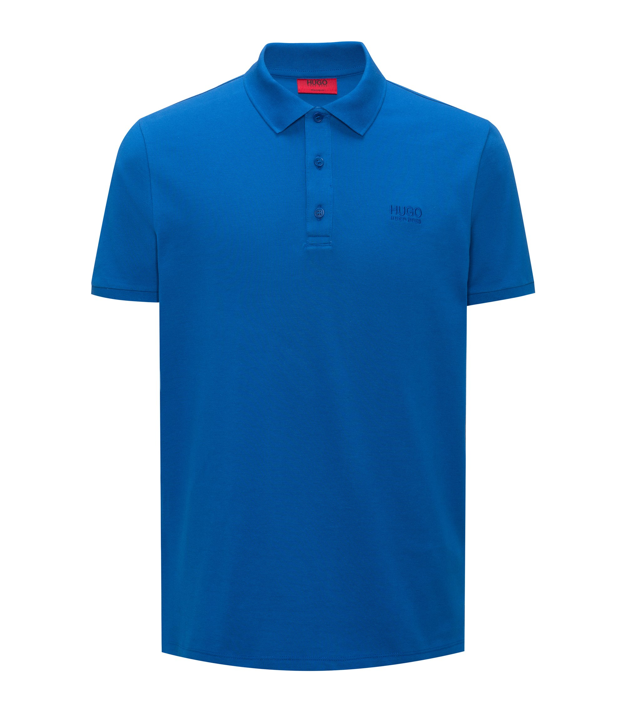 Regular-Fit Poloshirt aus softer Baumwolle, Blau