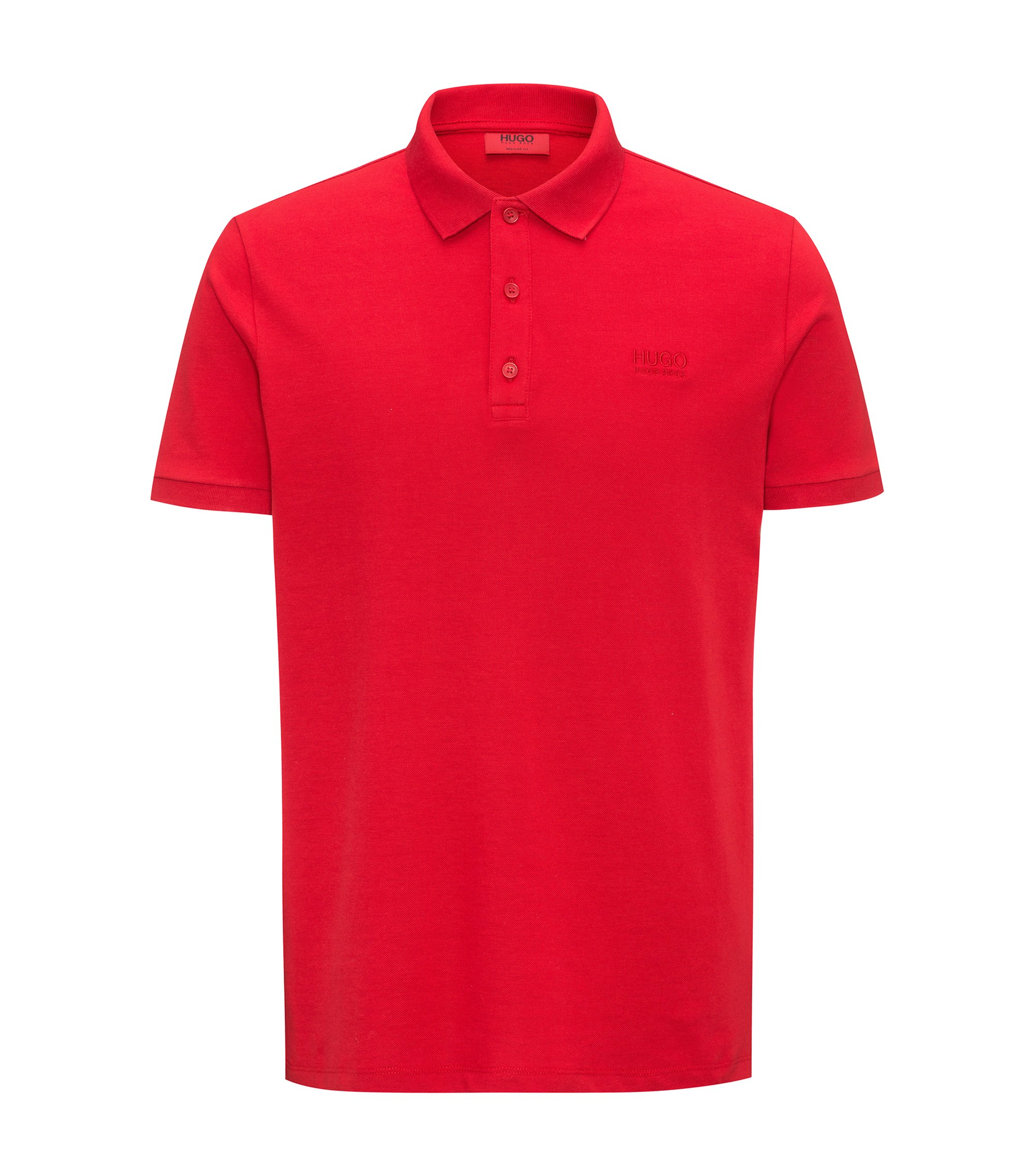 Polo regular fit en algodón suave, Rojo