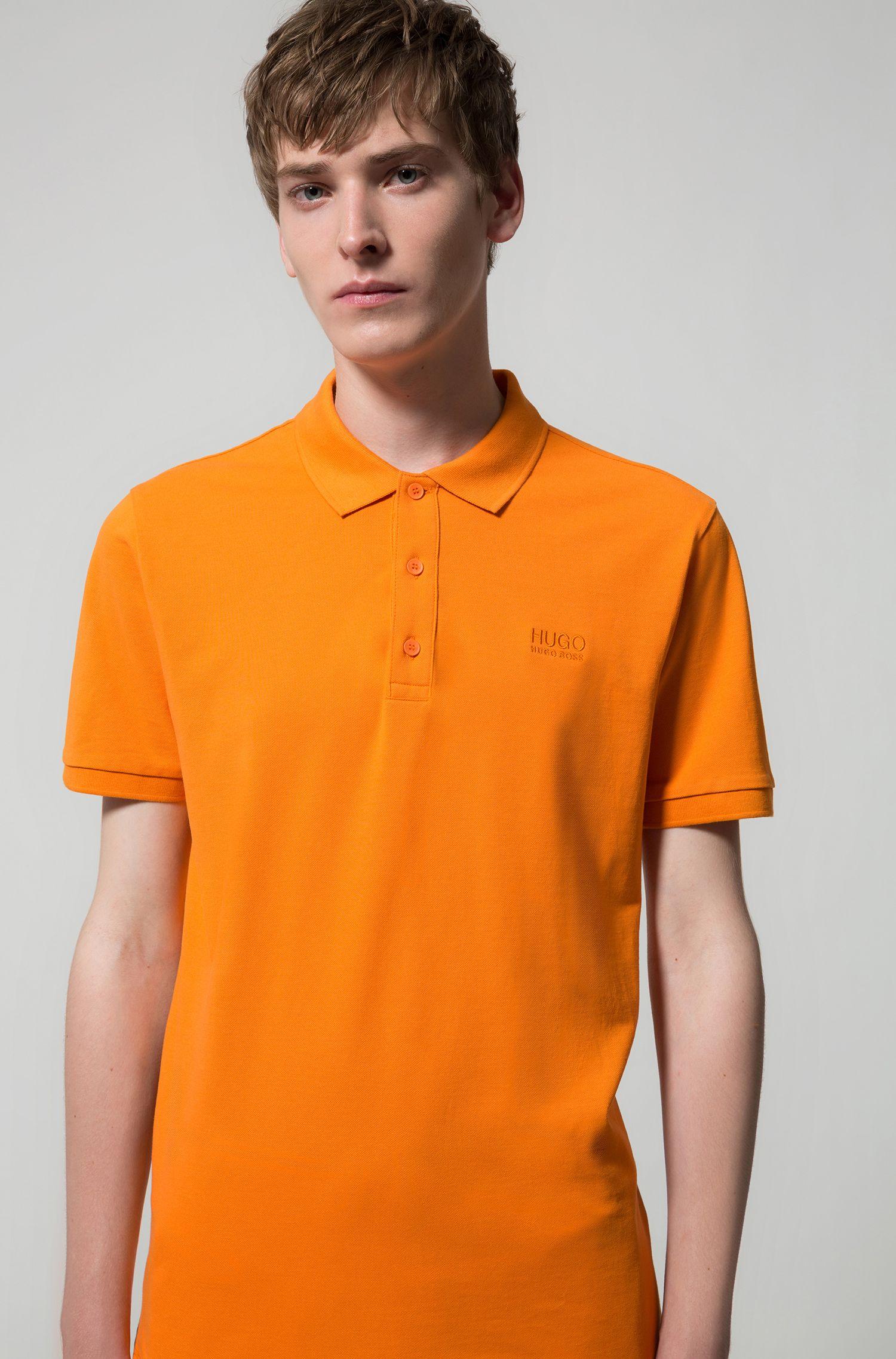 Regular-fit poloshirt van zachte katoen, Oranje