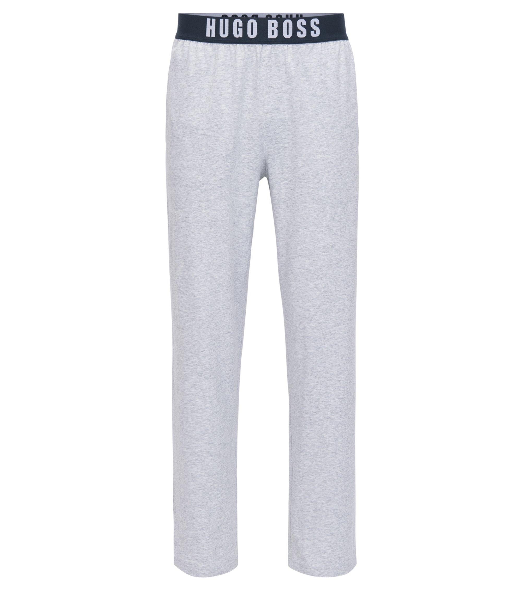 Pyjama-Hose aus elastischer Baumwolle, Grau