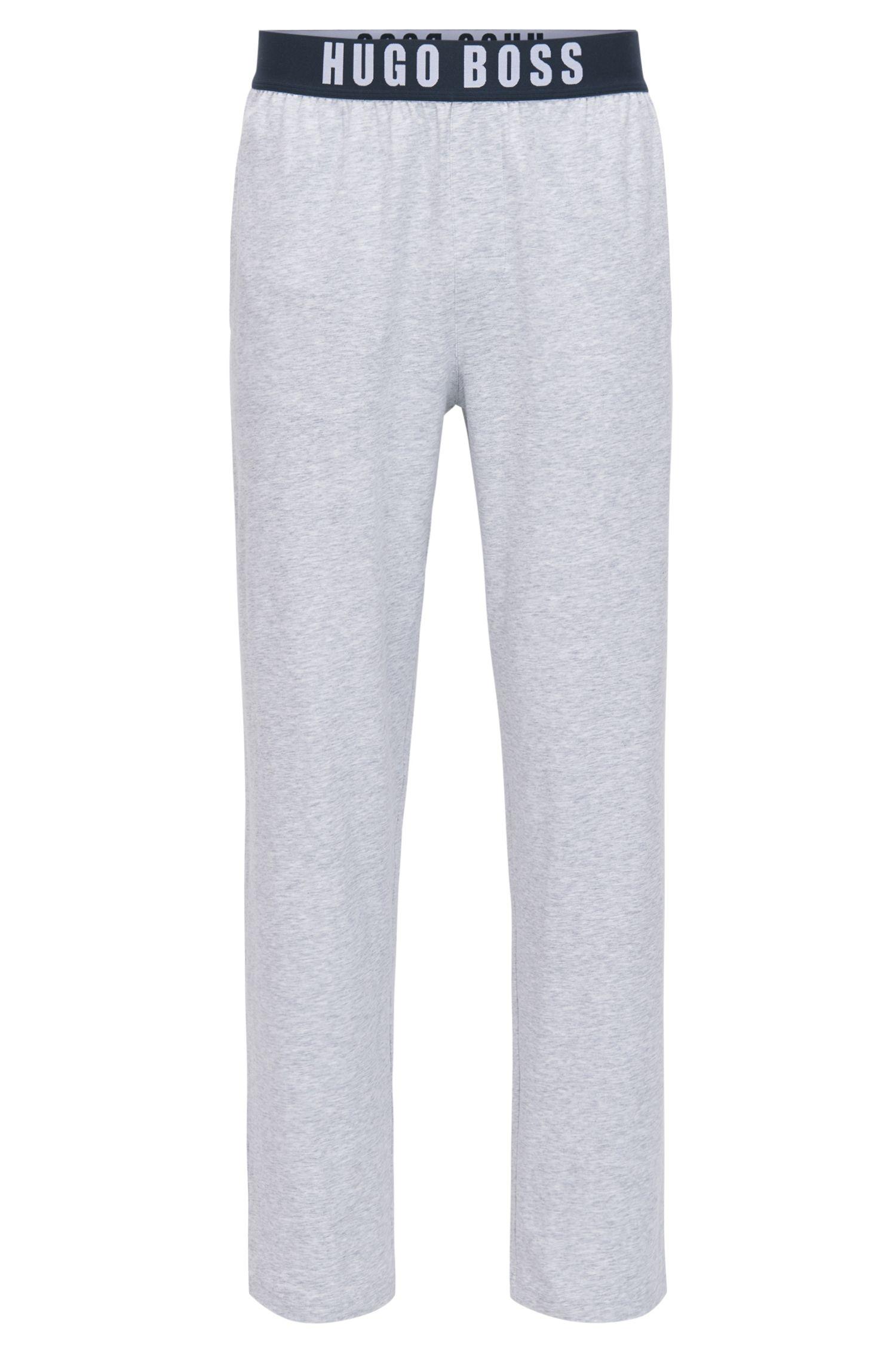 Pantalones de pijama en punto de algodón elástico