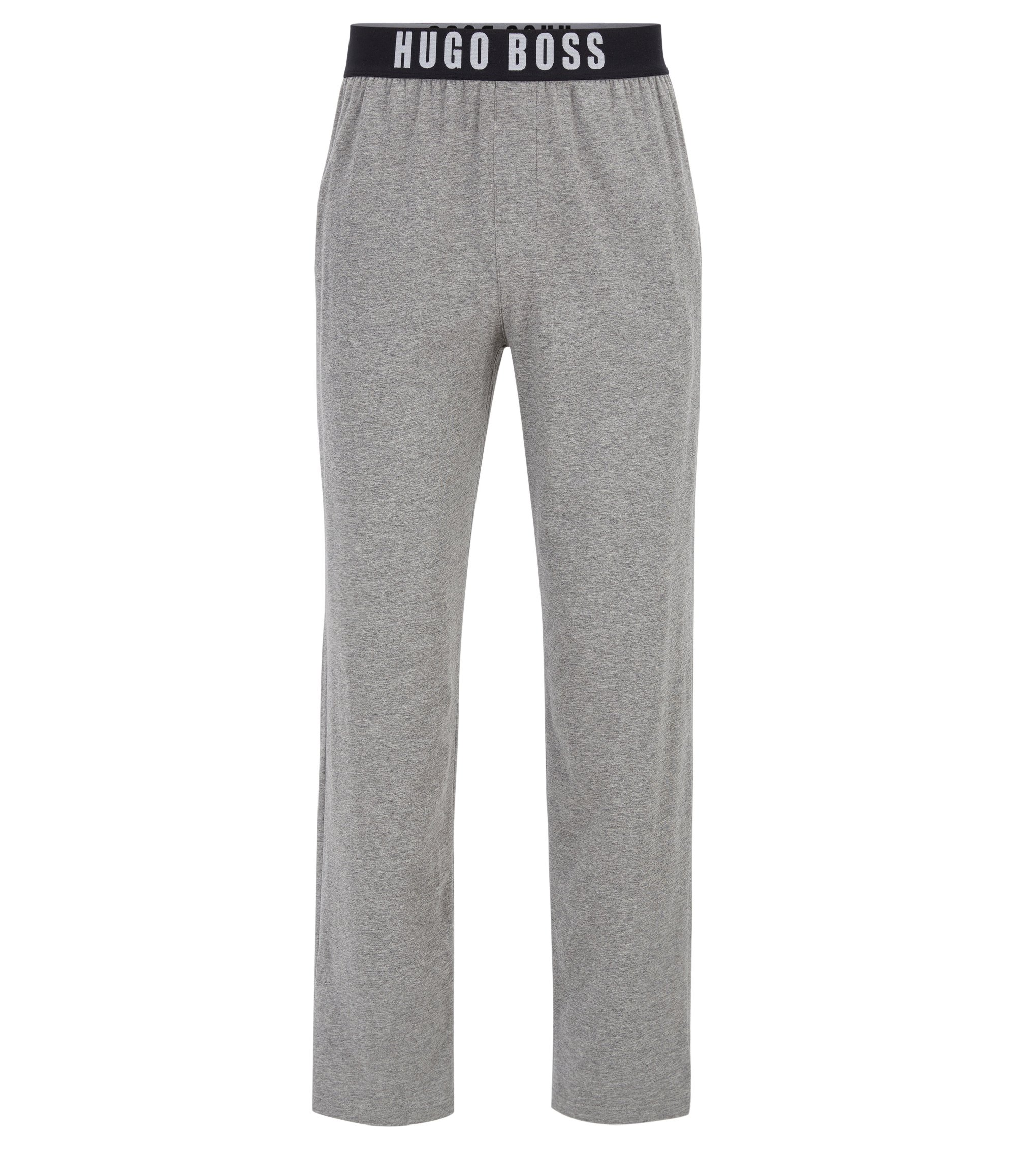Pyjama trousers in stretch cotton jersey, Grey