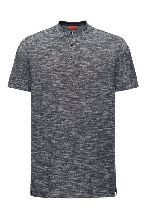 Mouliné Oxford cotton polo shirt with varsity-style collar in a regular fit HUGO BOSS Buy Cheap Clearance Discount Sale Free Shipping Inexpensive Cheap Fast Delivery Perfect PkWsvVC5t