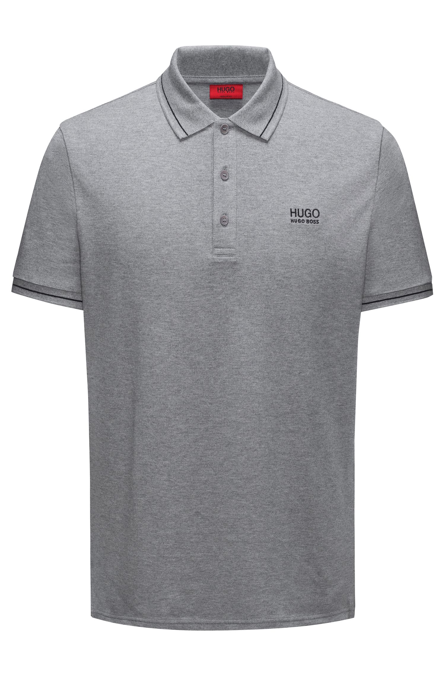 Polo Regular Fit en coton avec bordure contrastante