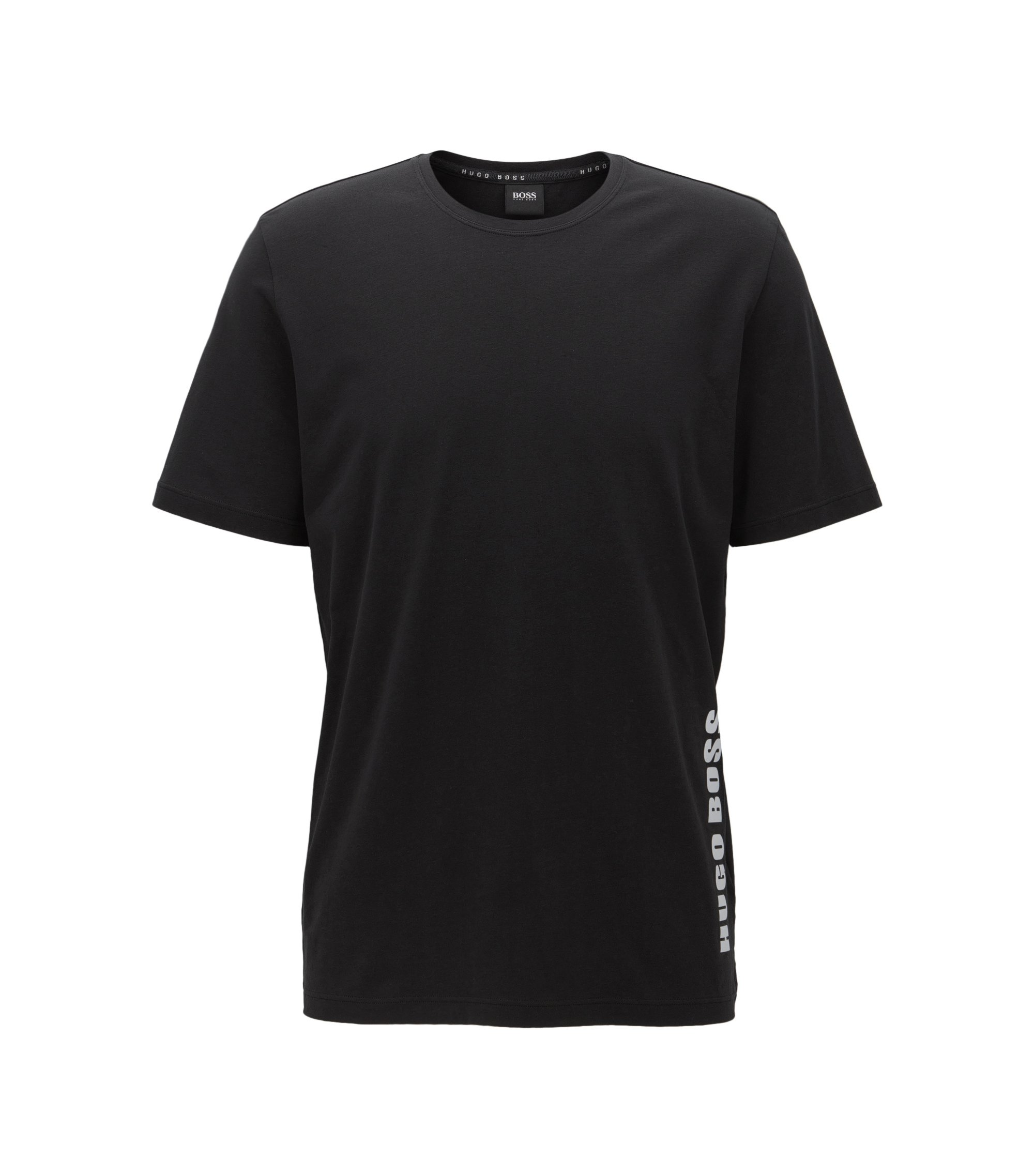 T-shirt de pyjama Regular Fit en jersey simple, Noir