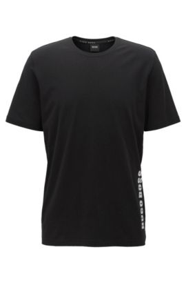 Regular-fit pyjama-T-shirt van singlejersey, Zwart