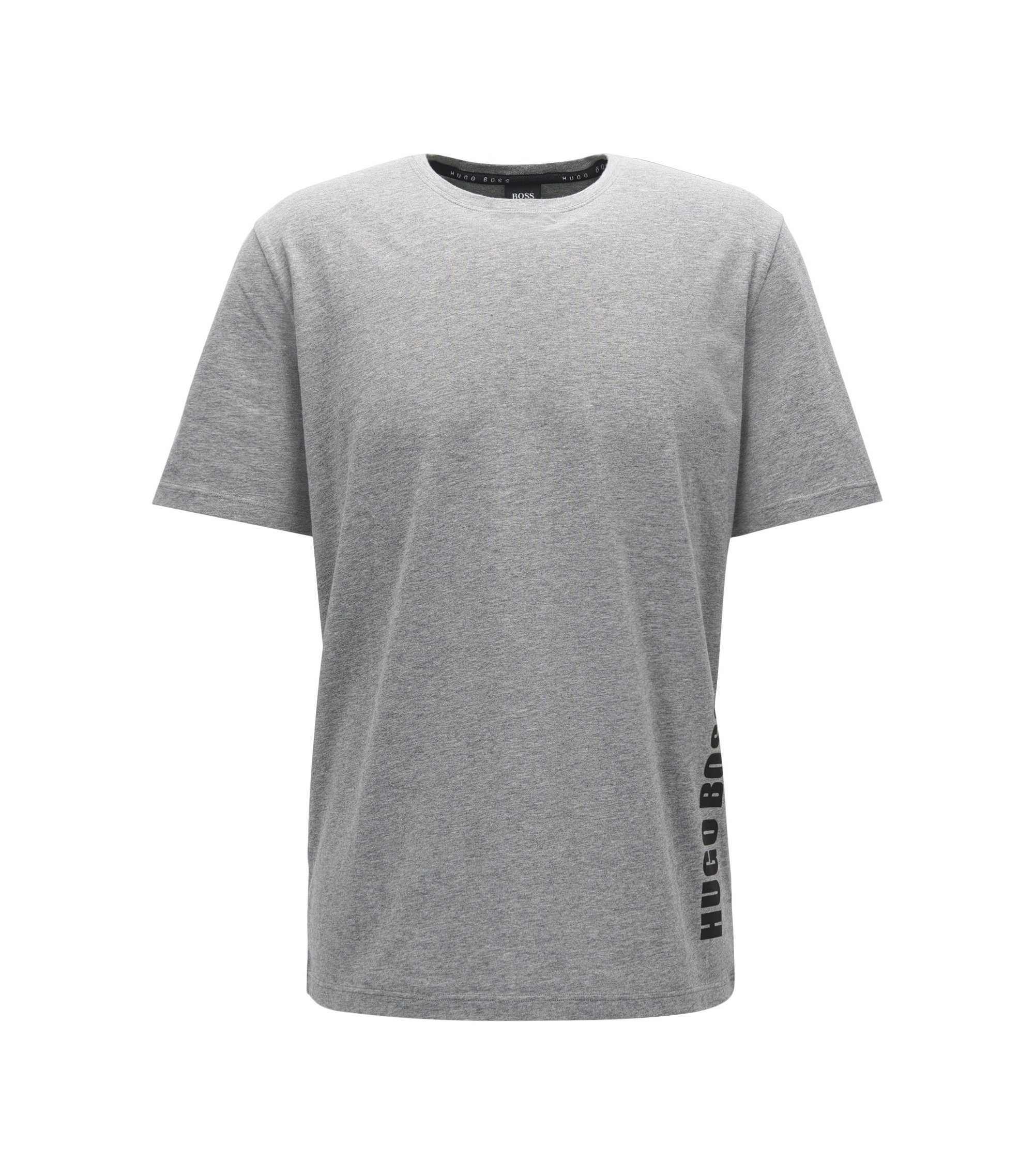 Regular-fit pyjama T-shirt in single jersey, Grey