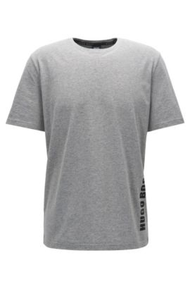 Regular-fit pyjama-T-shirt van singlejersey, Grijs