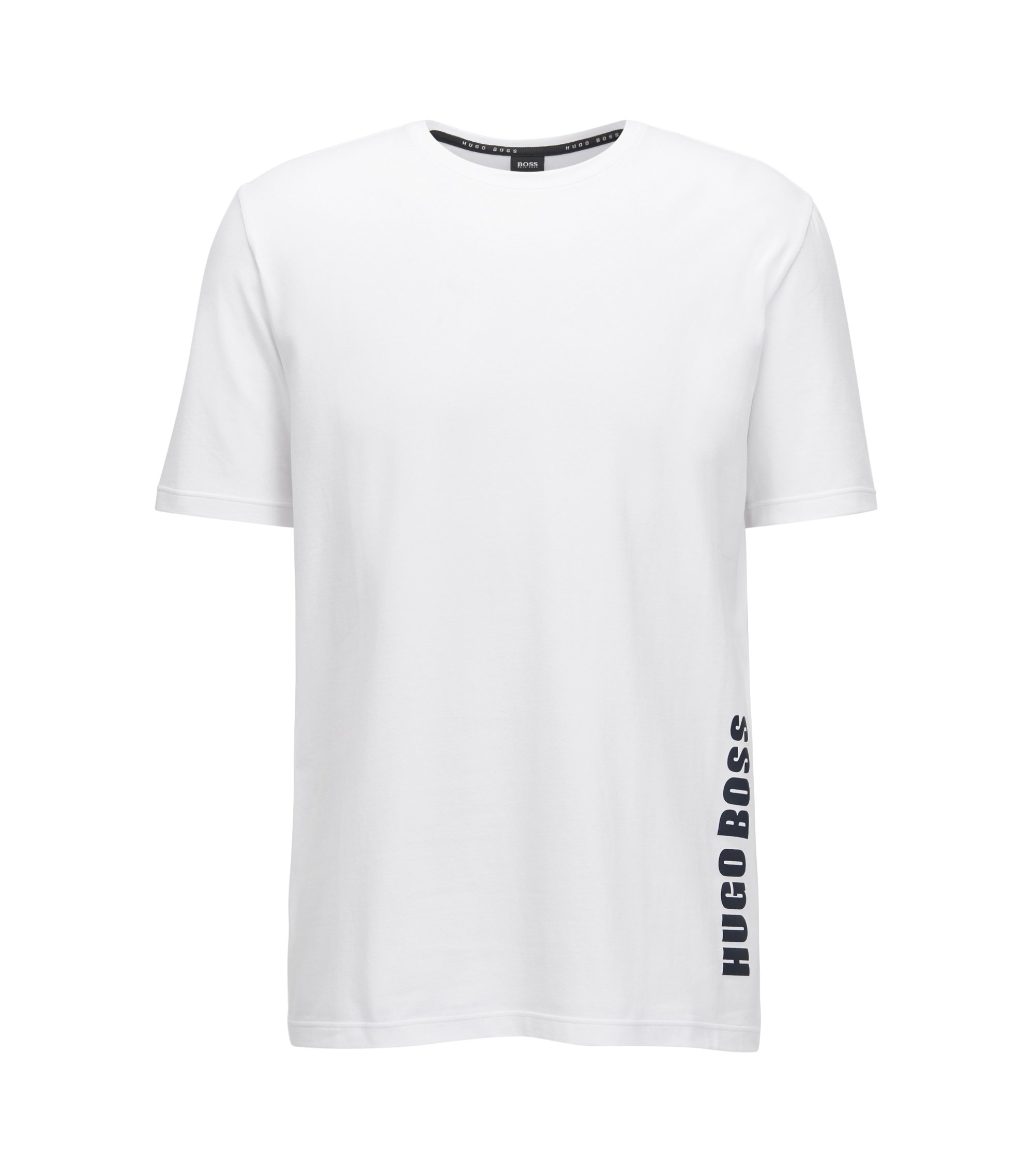 Regular-fit pyjama T-shirt in single jersey, White