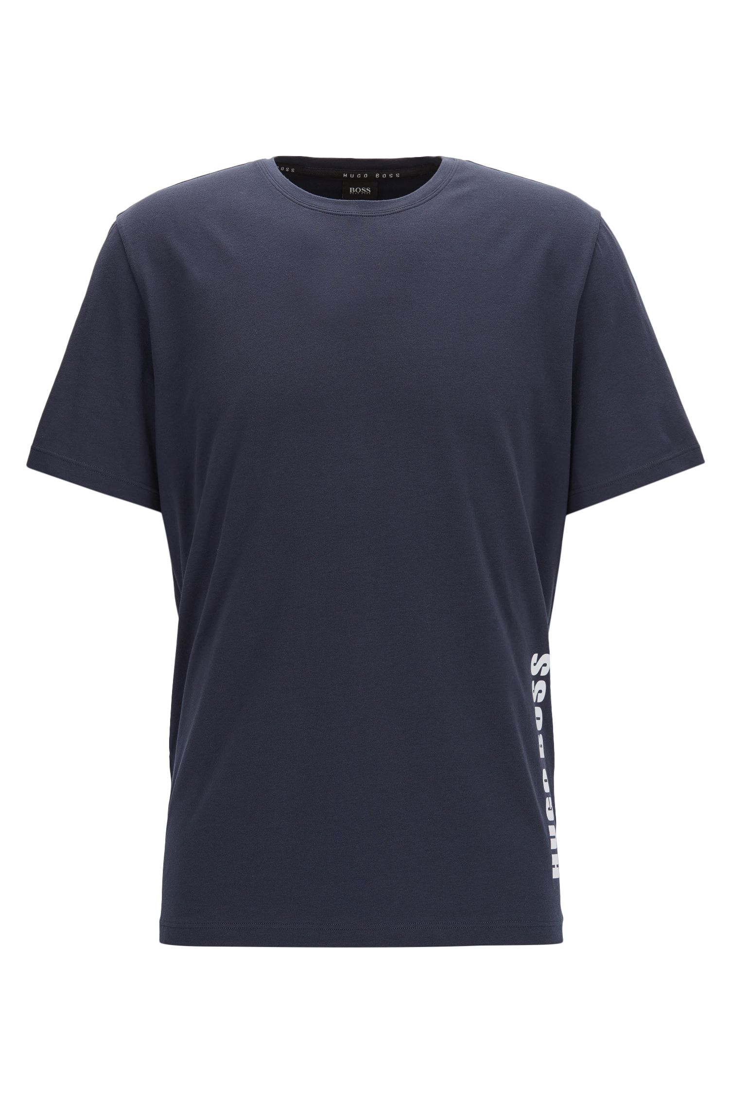 Regular-Fit Pyjama Shirt aus Stretch-Baumwolle
