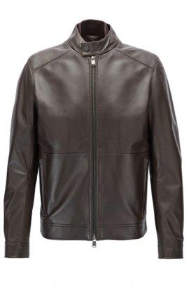 Blouson en cuir léger Slim Fit avec doublure contrastante480.00BOSS MQMQNSL