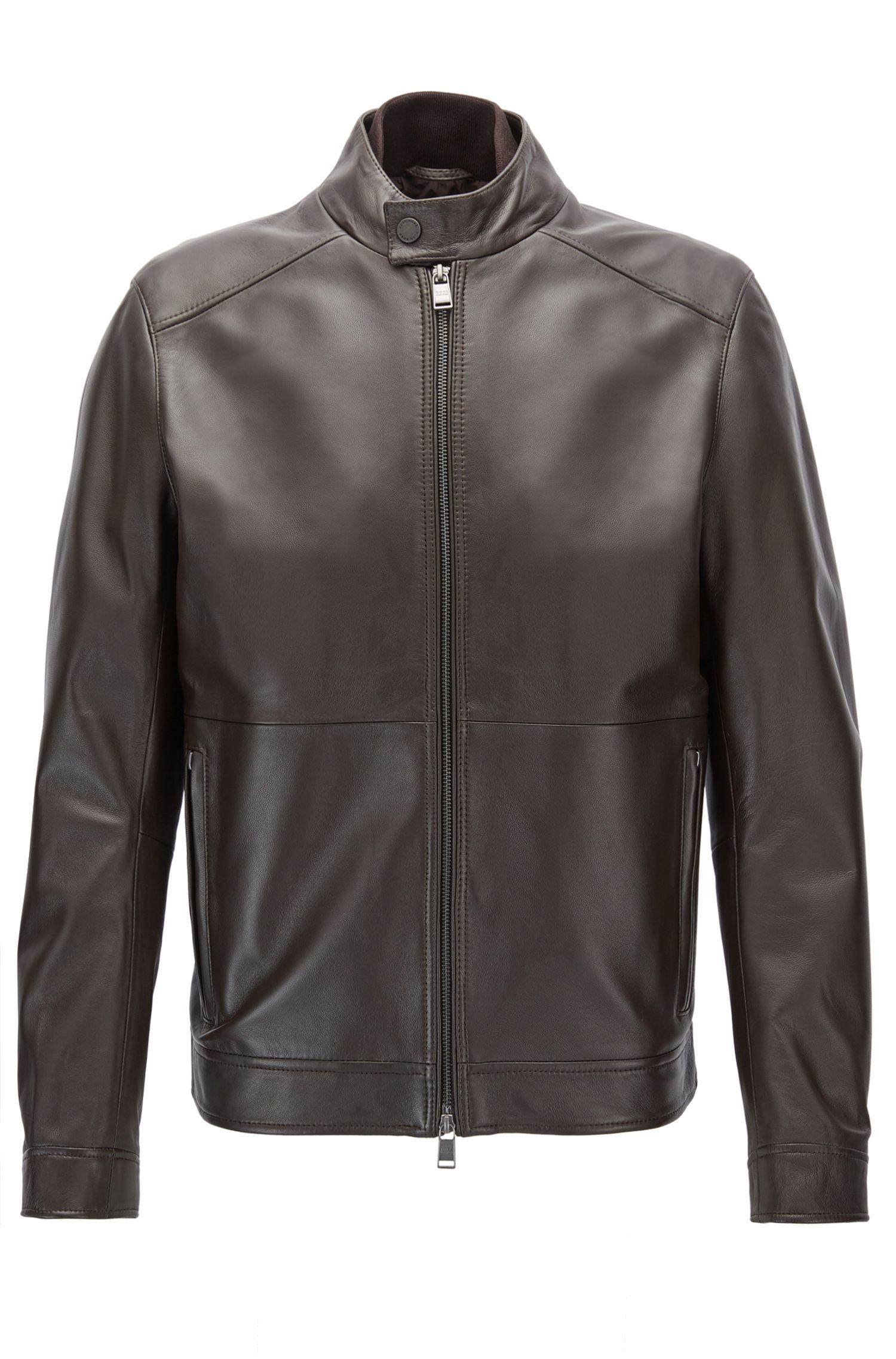 Regular-Fit Jacke aus Nappaleder