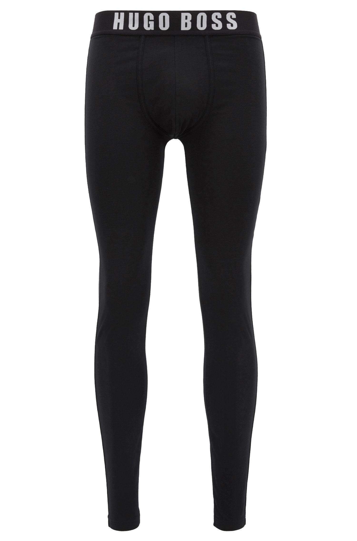 Lange Unterhose aus elastischem Baumwoll-Mix mit Modal