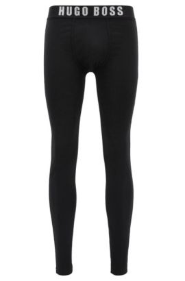 Long johns in stretch single jersey, Black