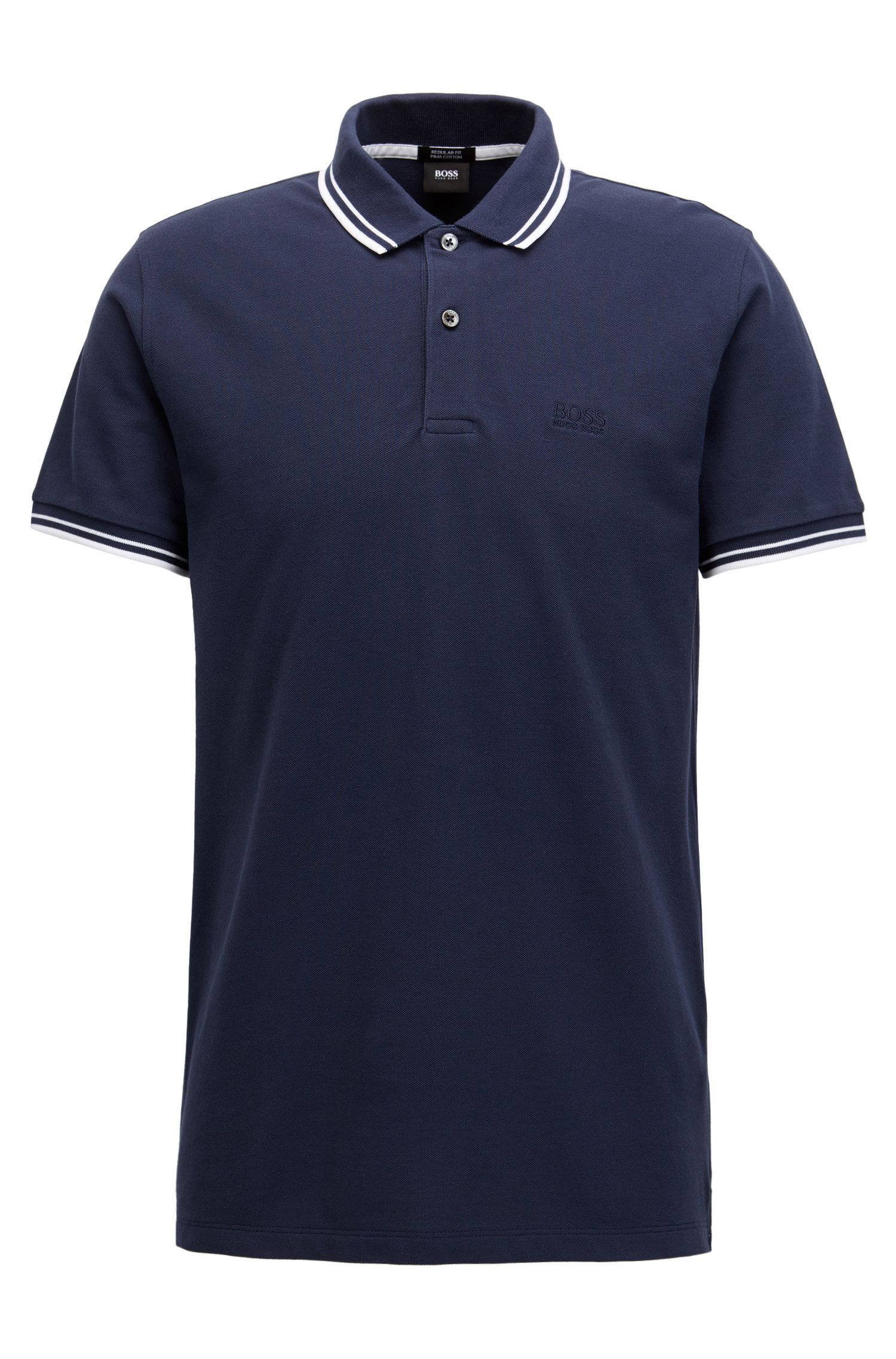 Polo Regular Fit en piqué de coton fin